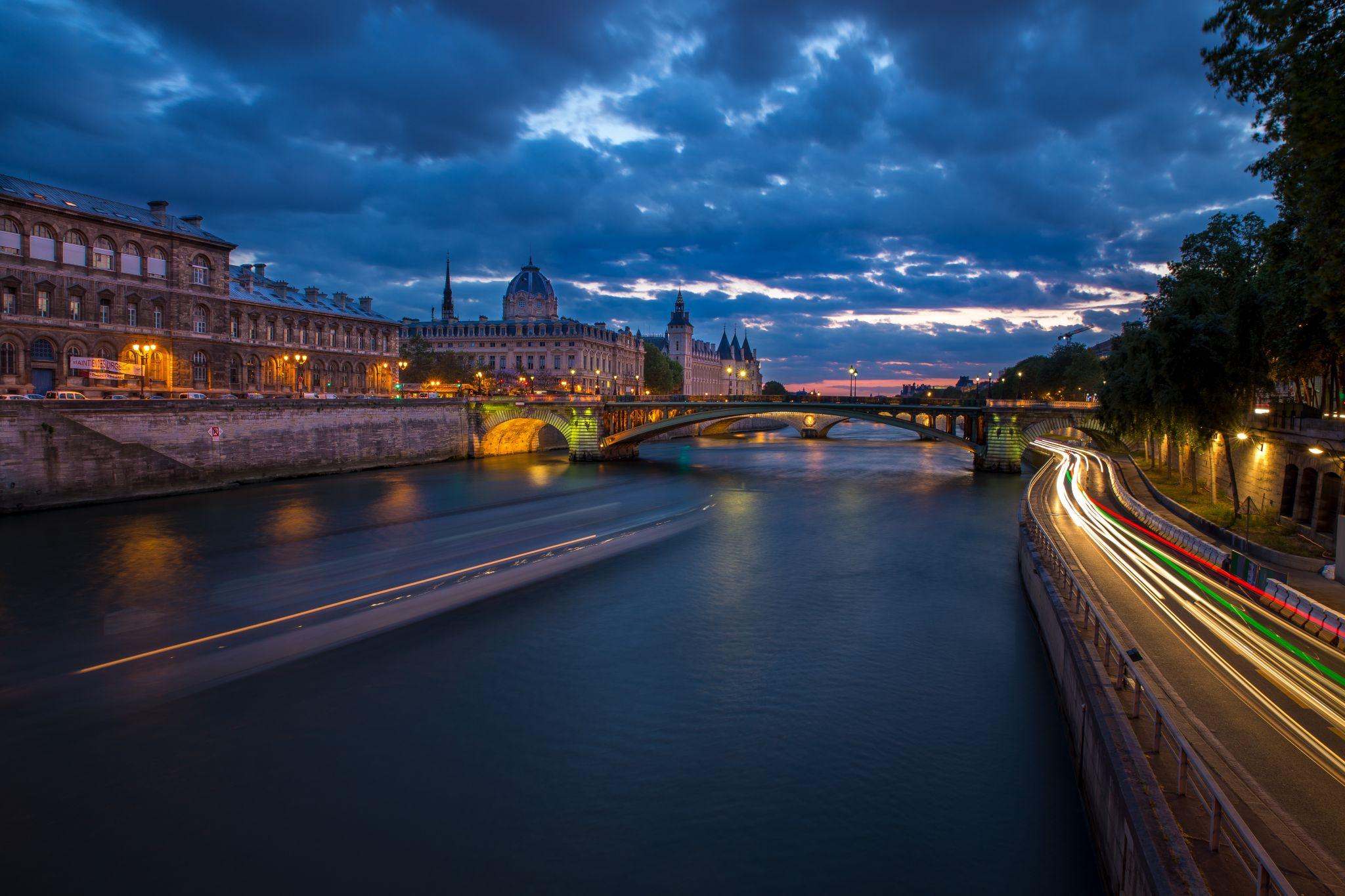 Paris, View from Pont d'Arcole, France
