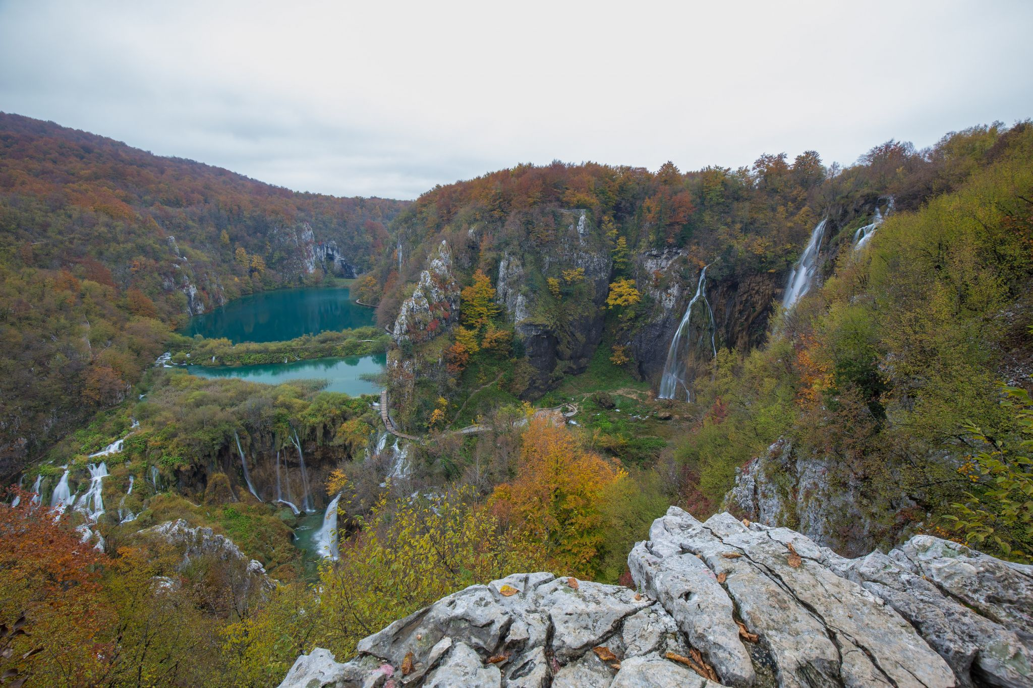 Plitvice Lakes as seen on postcards, Croatia