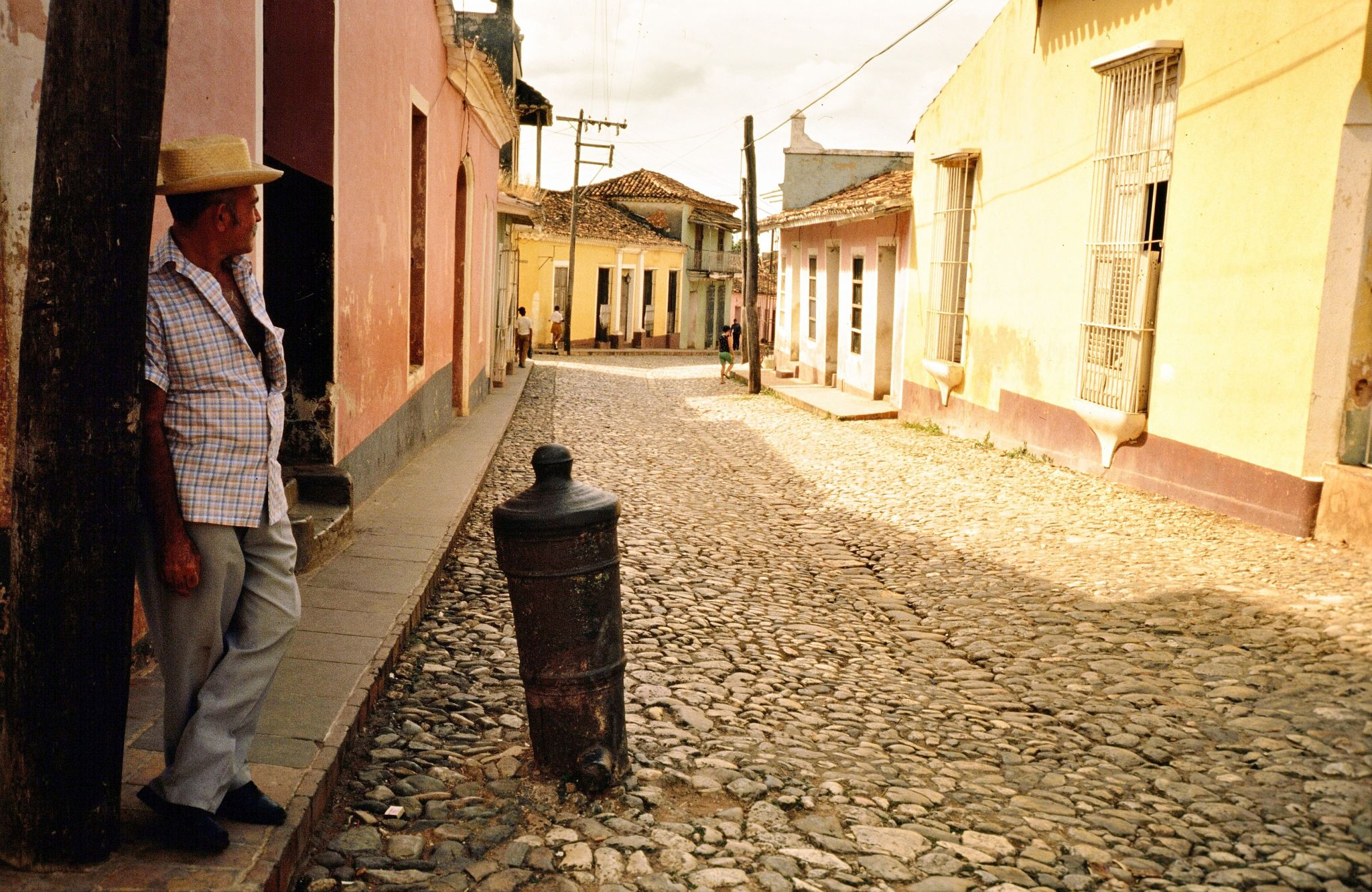 Bollards in the streets of Trinidad, Cuba, Cuba