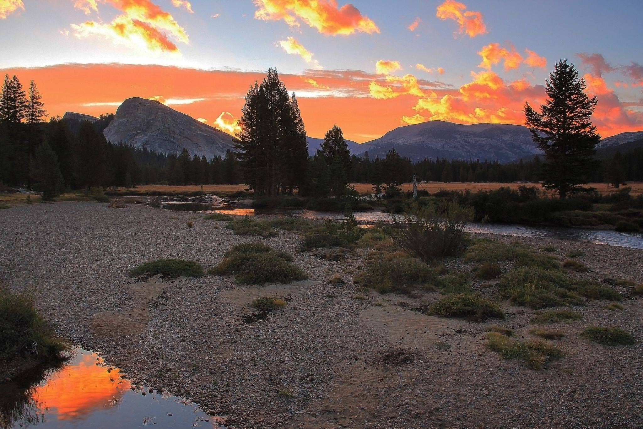Sunrise by the Tuolumne River, USA