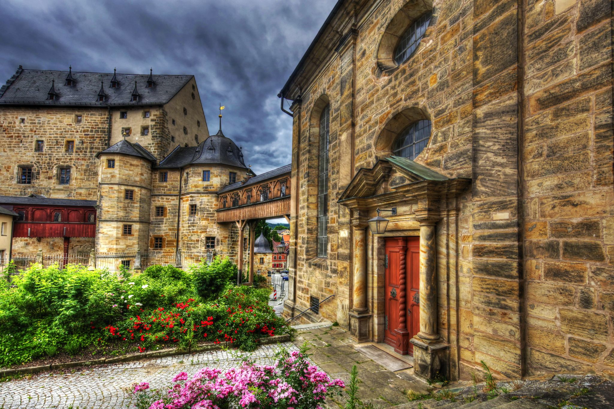 The City Center of Thurnau (Upper Franconia), Germany