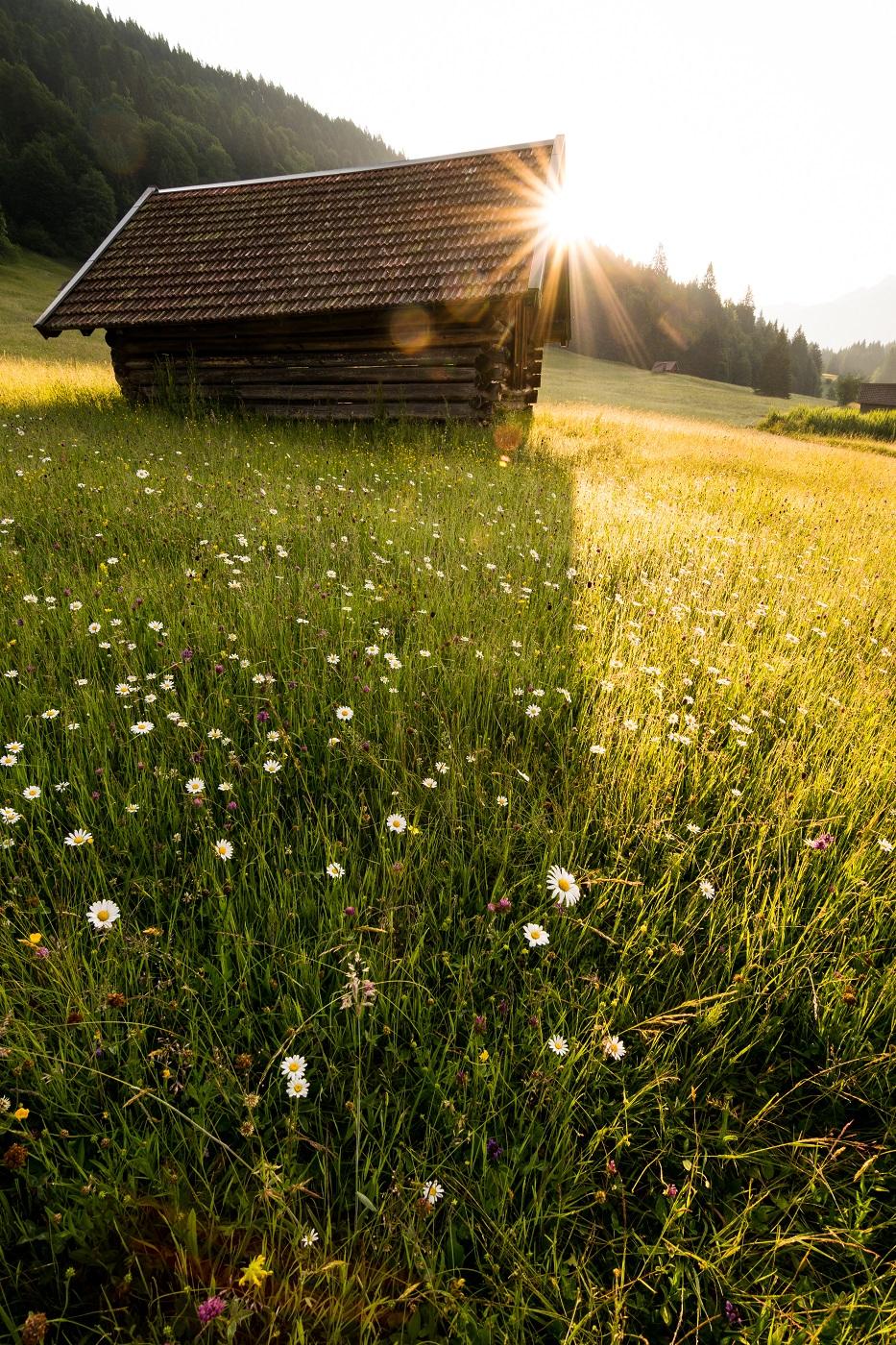 Wooden Hut at lake Geroldsee, Bavaria in Germany, Germany