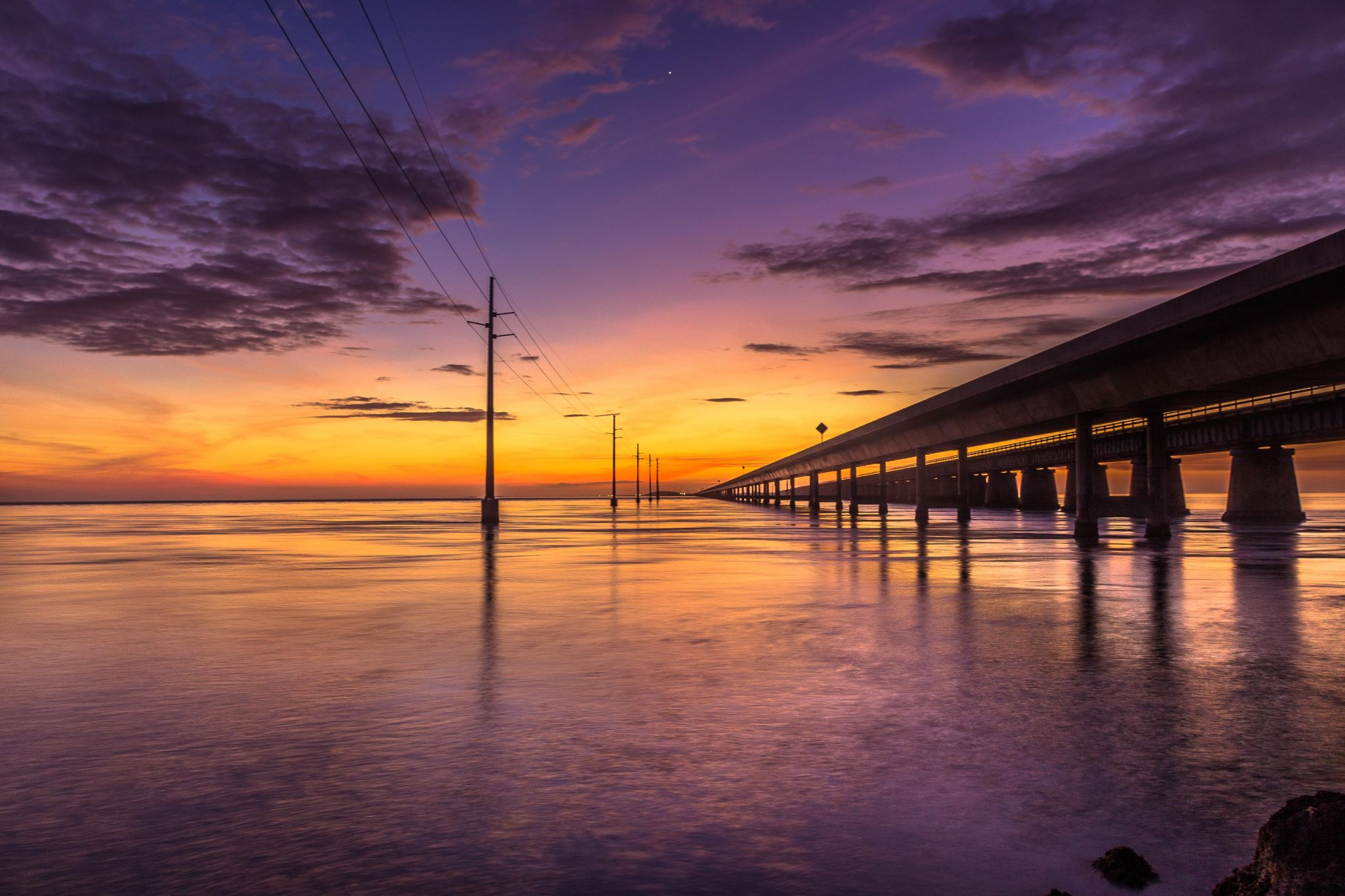 7 Mile Bridge Sunset, USA