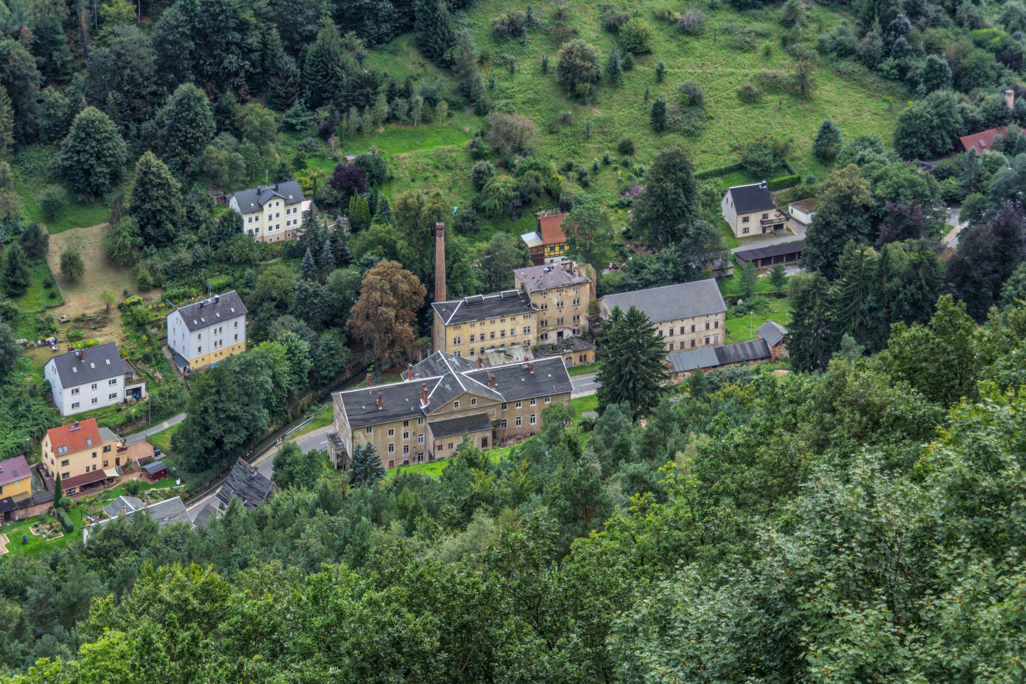 Bielatal as seen from Königstein Fortress, Germany