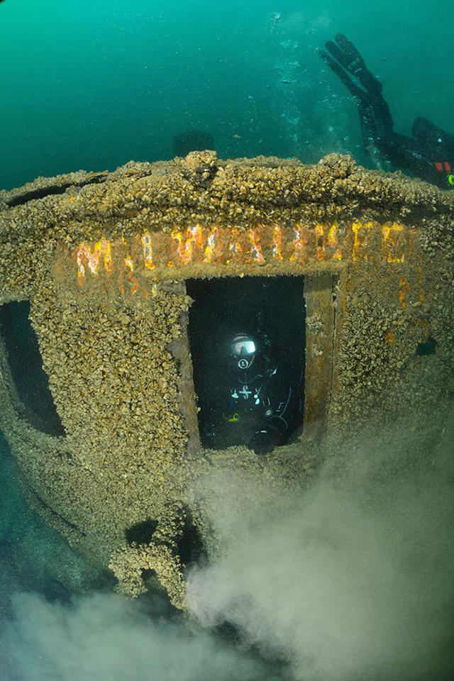 Diving the Wrecks off  Milwaukee Wisconsin, USA