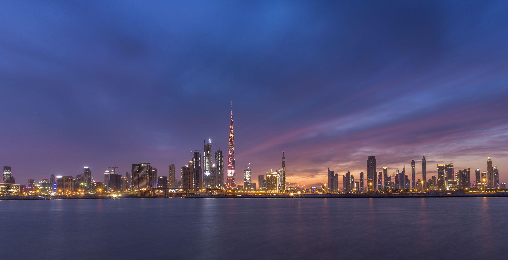 Dubai city panorama, United Arab Emirates