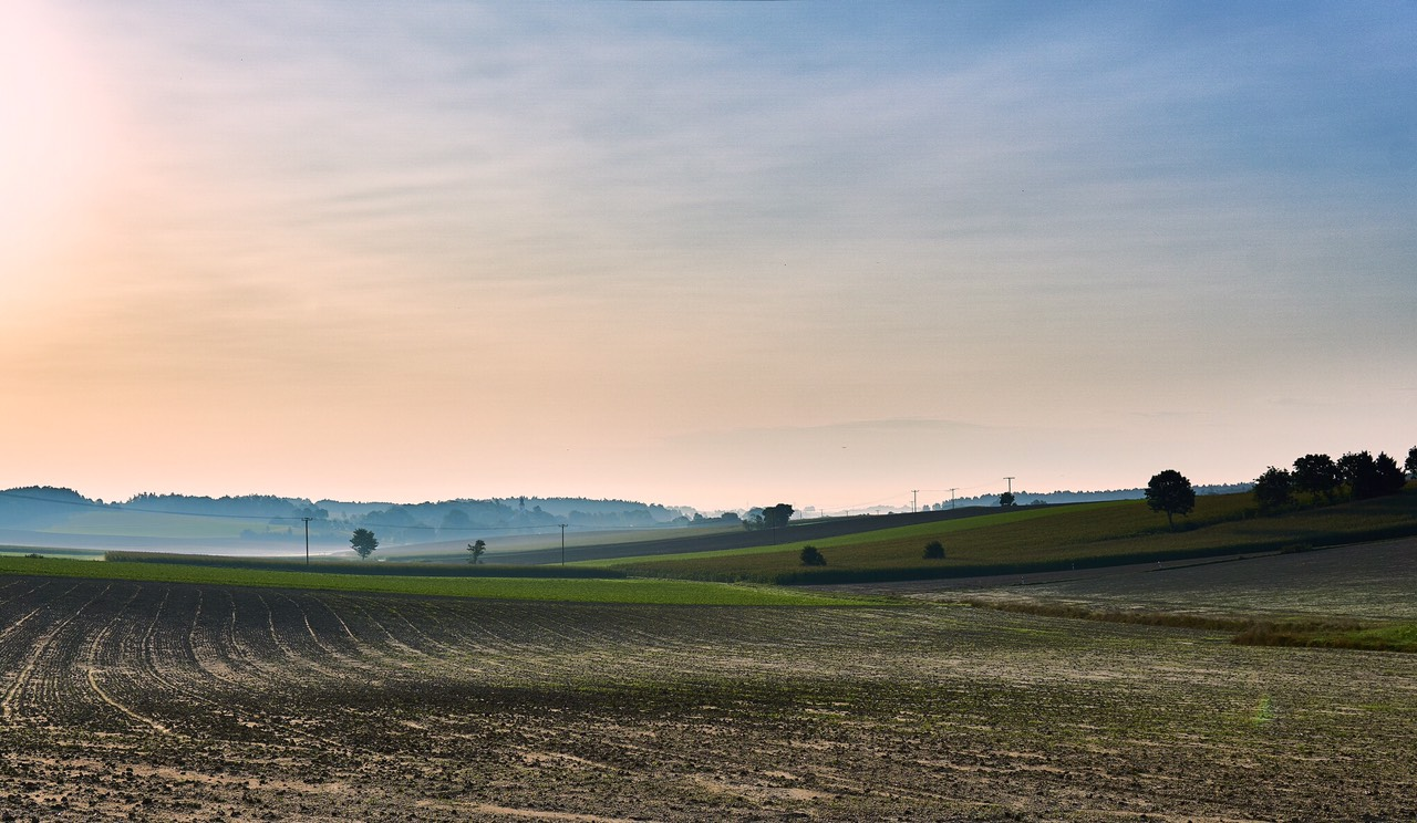 Fields close to Freising, Bavaria, Germany