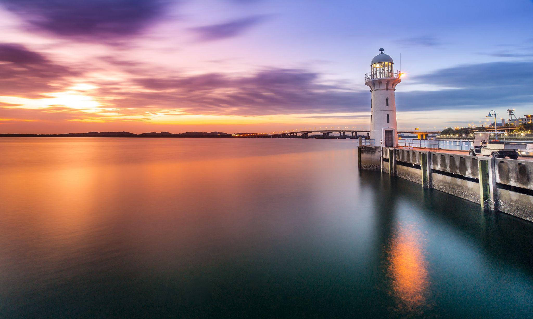 Raffles Marina Lighthouse, Singapore, Singapore