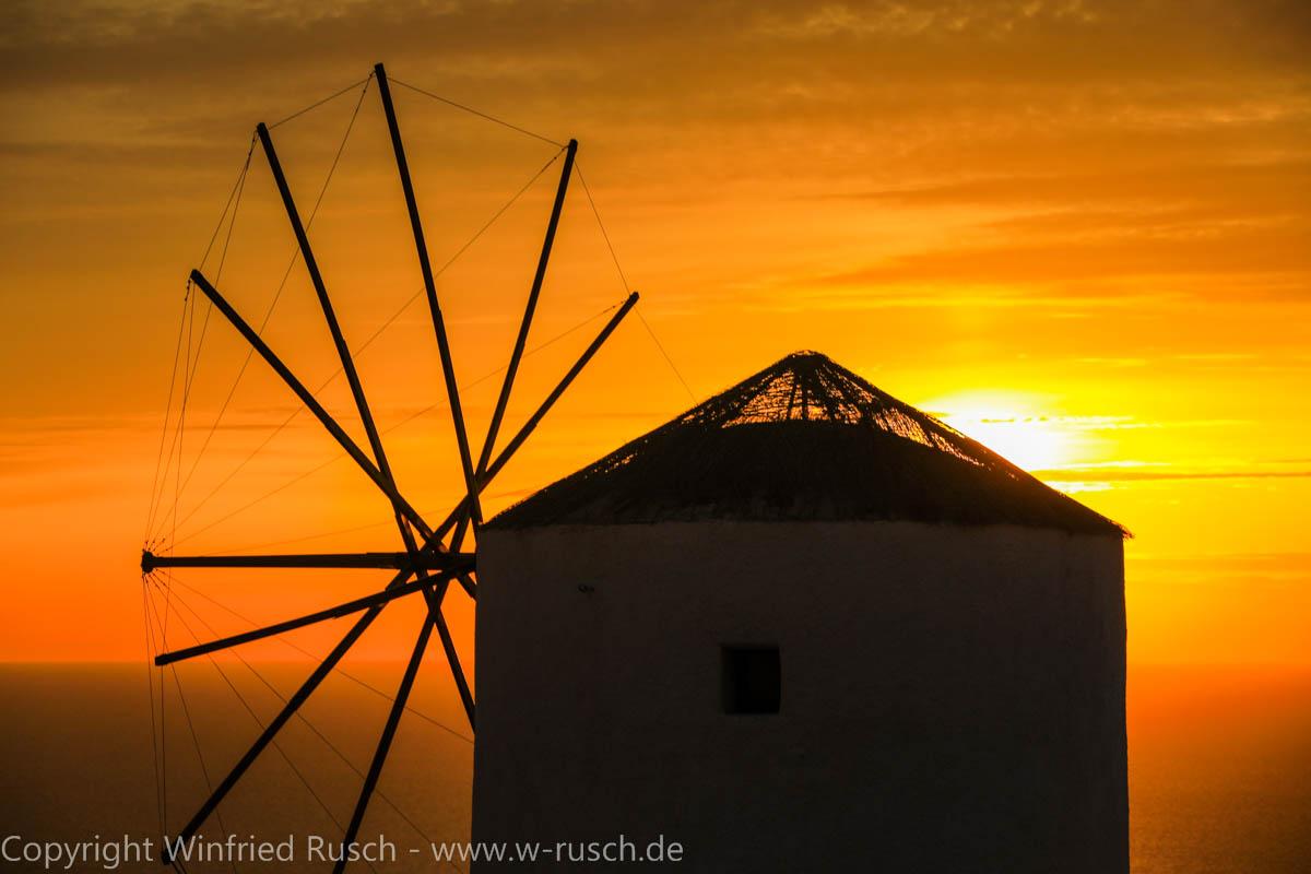 Sonnenuntergang in Oia, Greece