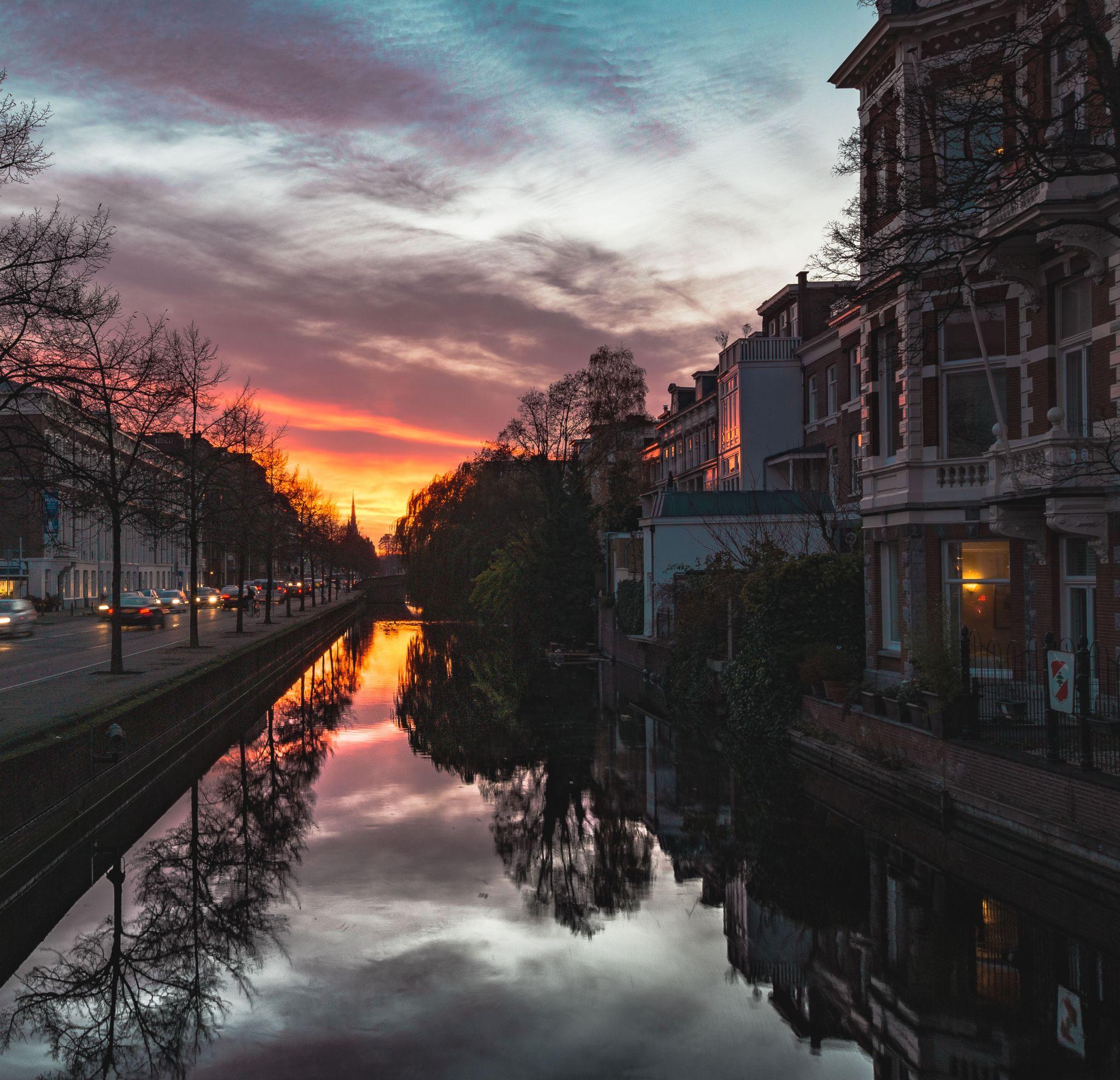 Sunset Reflection, Netherlands