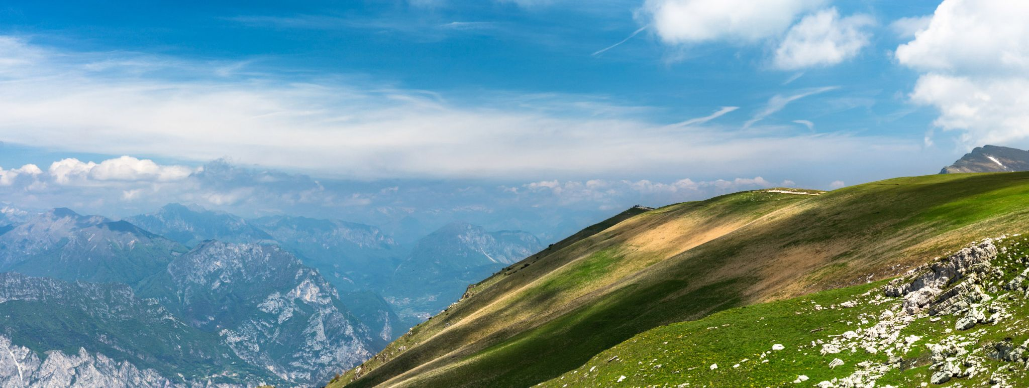 View from Mount Monte Baldo, Italy