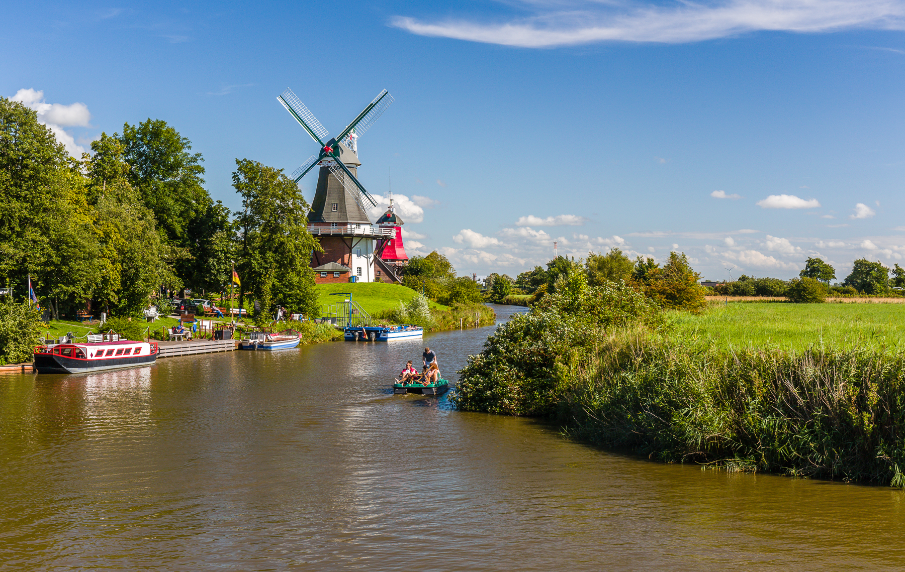 Windmills in Greetsiel, Germany