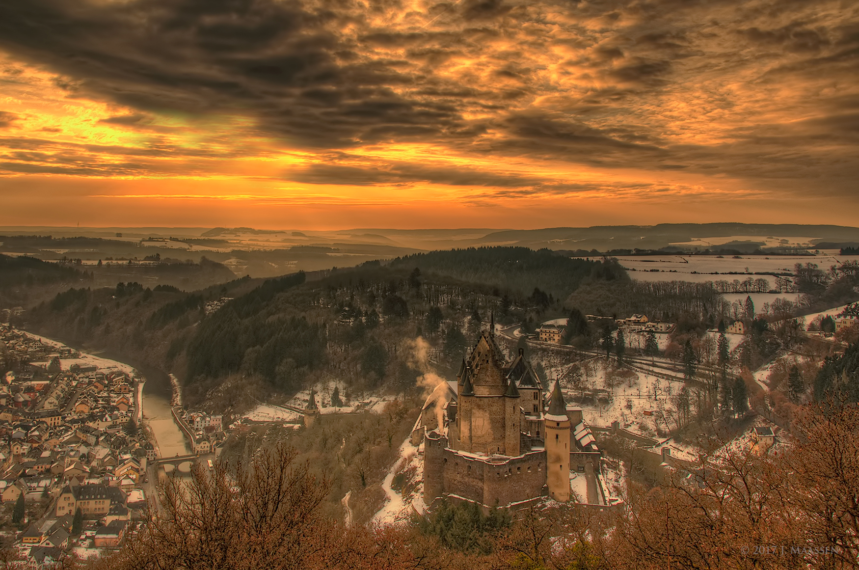 A view over Vianden., Luxembourg