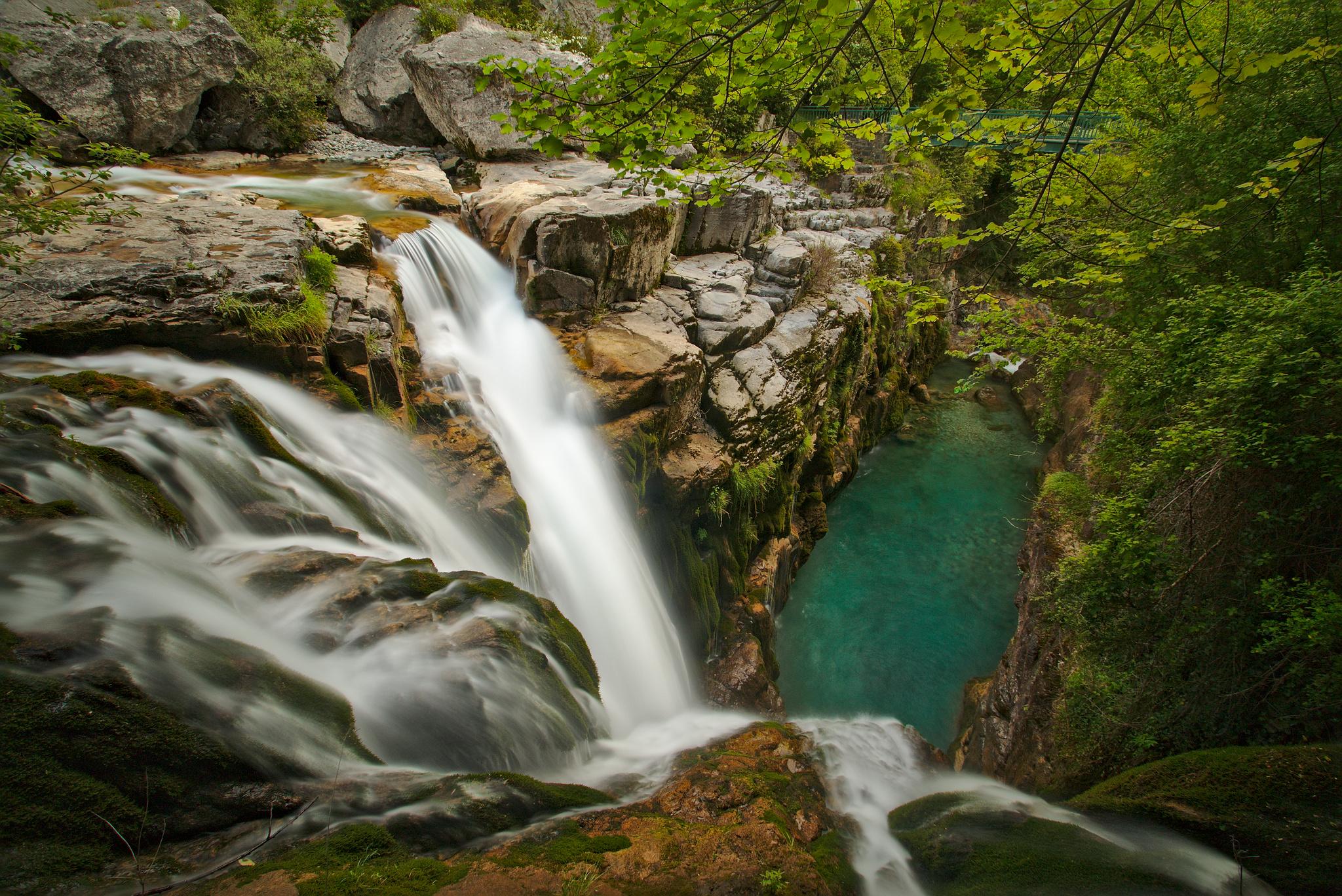 Anisclo canyon waterfalls, Spain