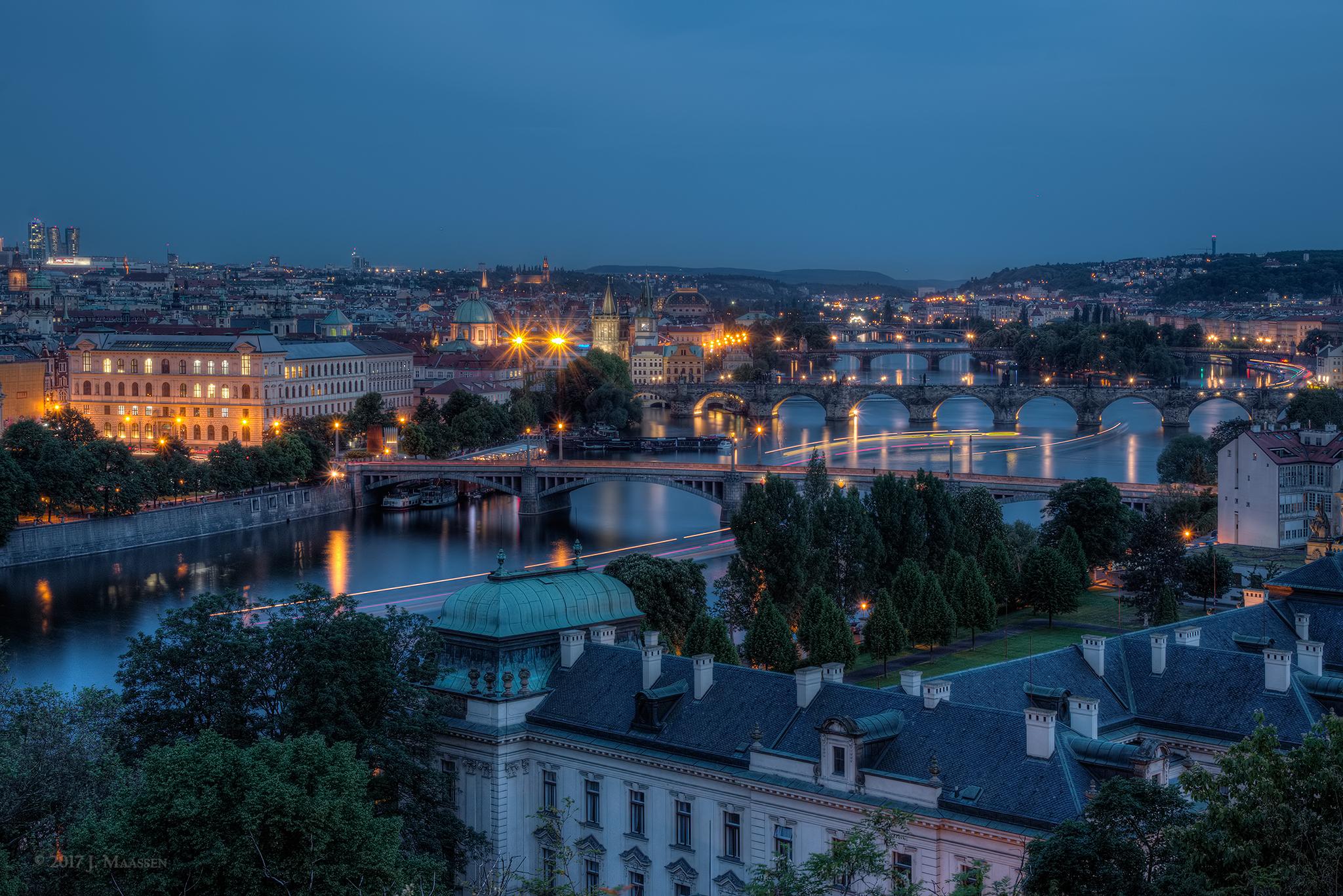Bridges of Prague., Czech Republic