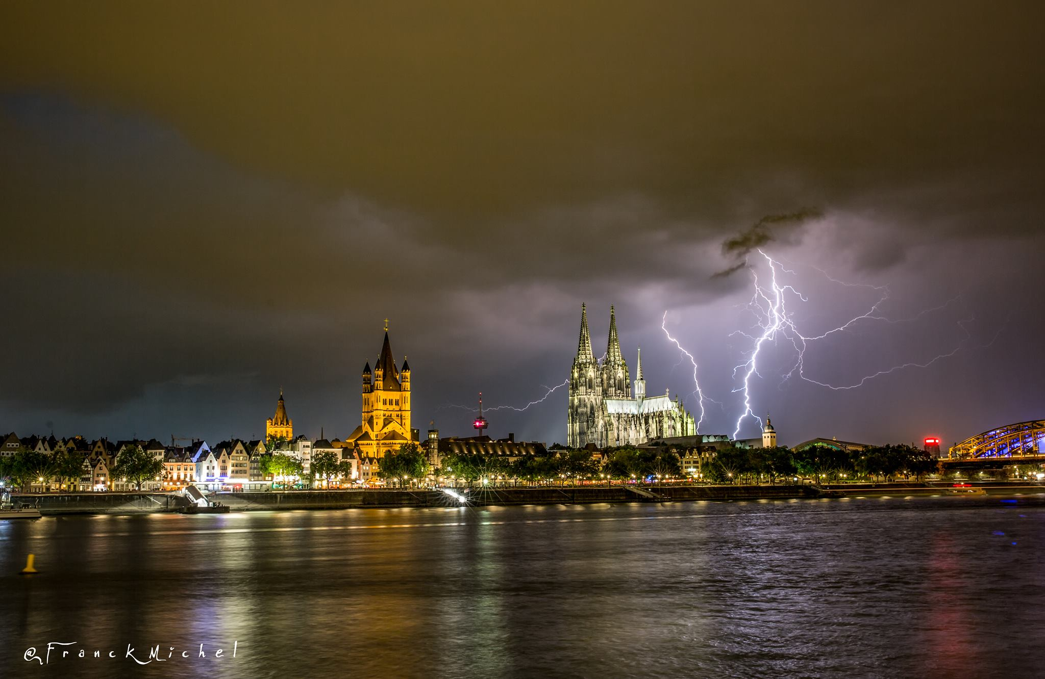 Cologne Cathedral Thunderstorm, Germany