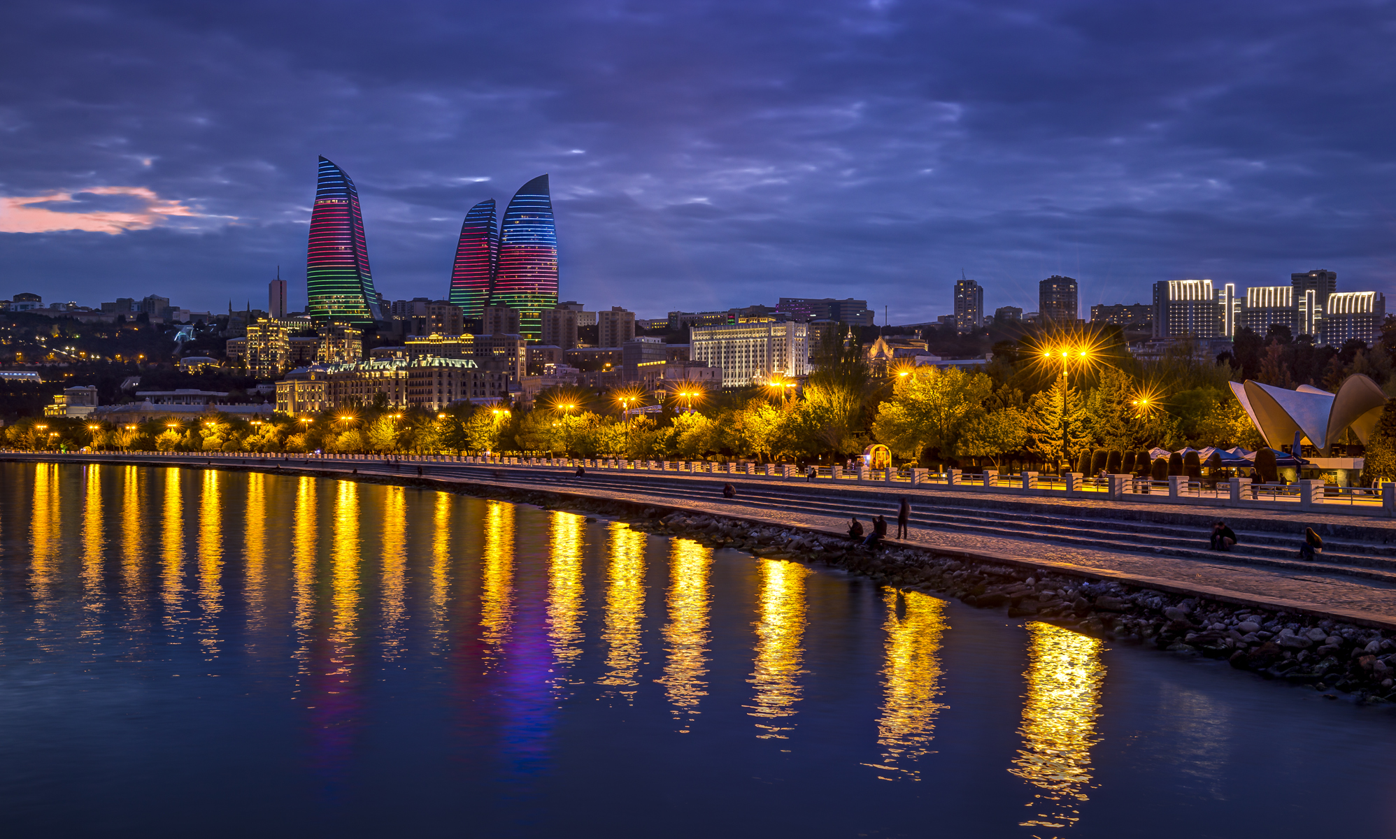 Flame towers, Azerbaijan