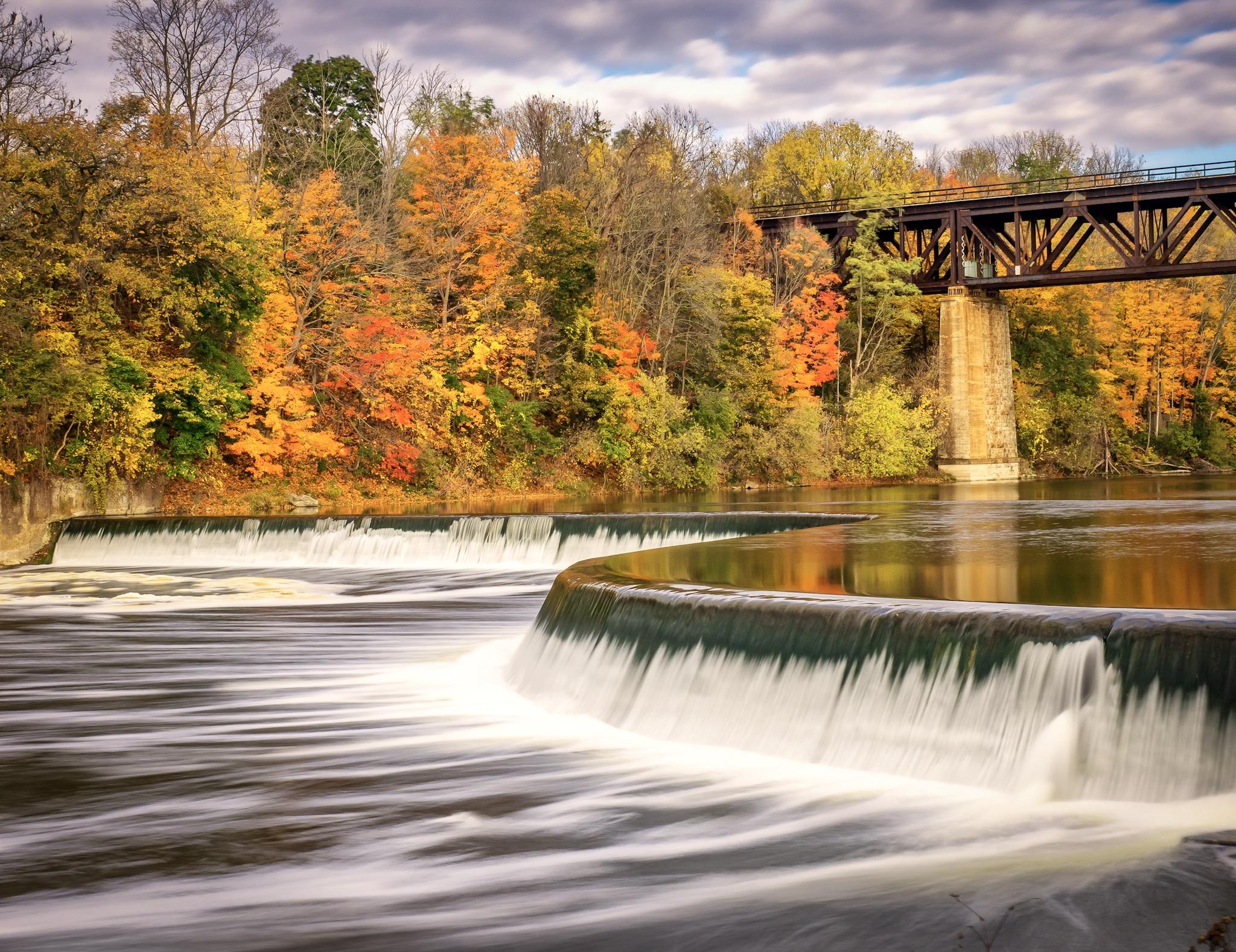 Grand river, Paris,Ontario, Canada