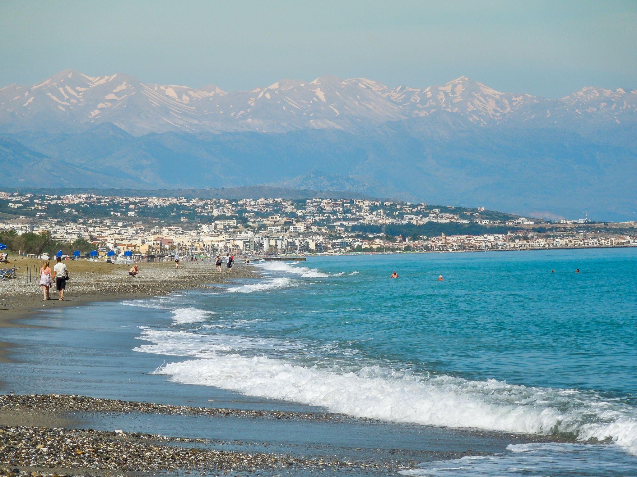 Rethymnon between sea and mountains, Greece