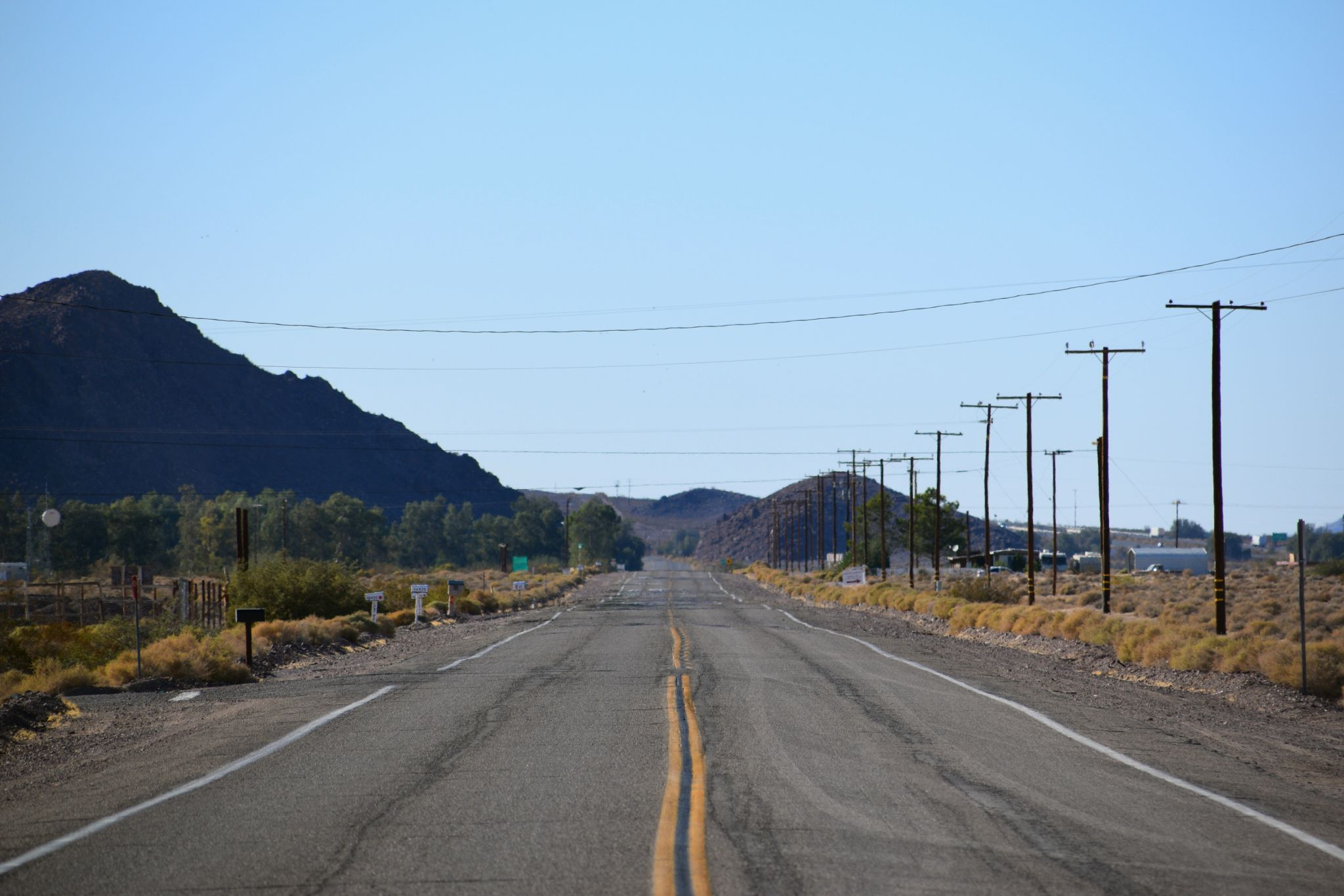 Route 66 on the Mojave Desert, USA