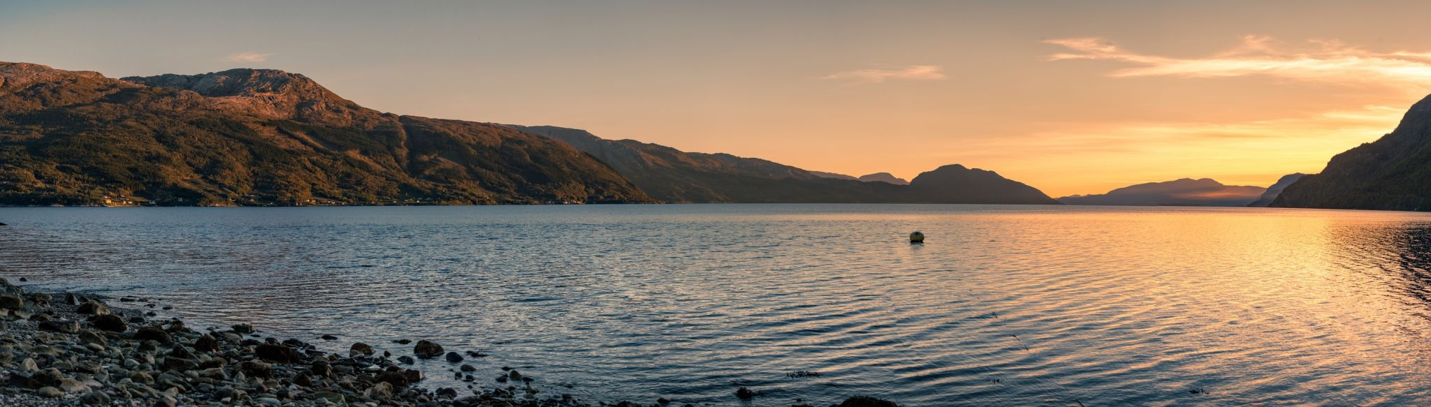 Sunset at Hardangerfjord, Norway