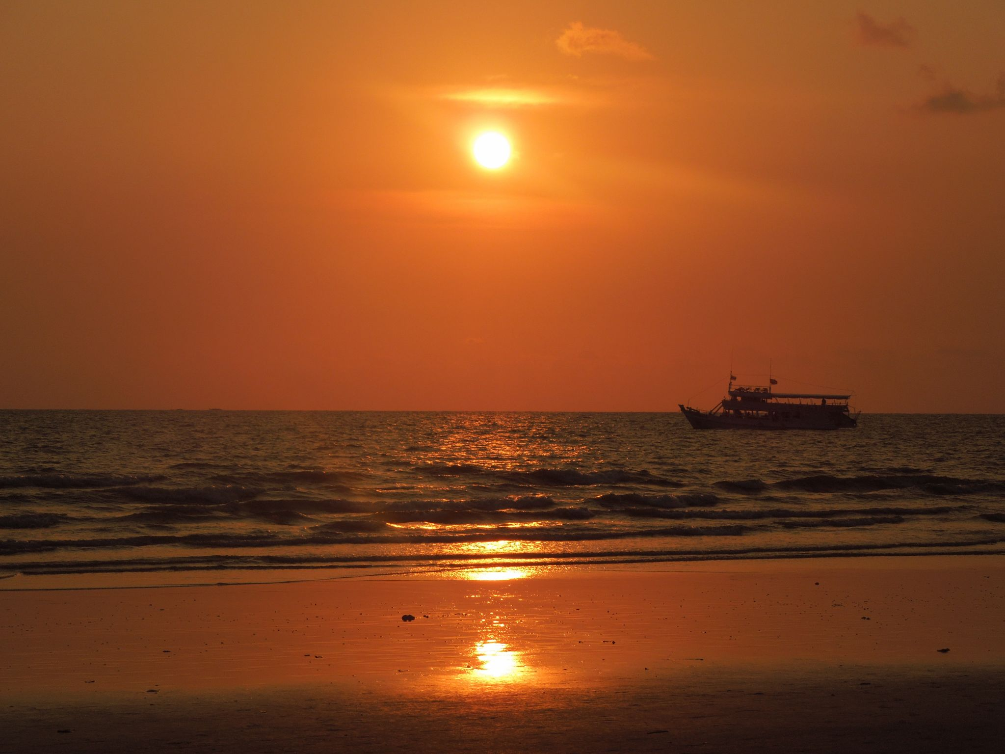 Sunset at Klong Prao Beach, Thailand