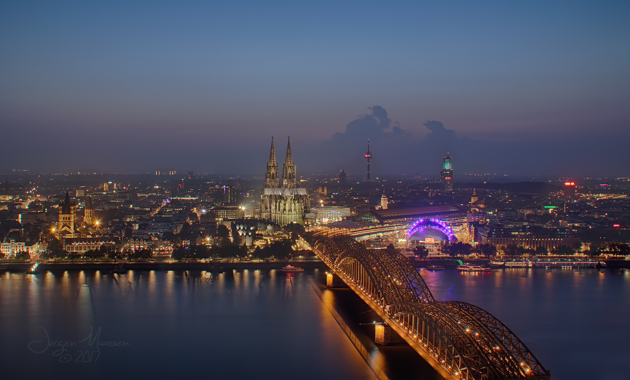 View over Cologne., Germany