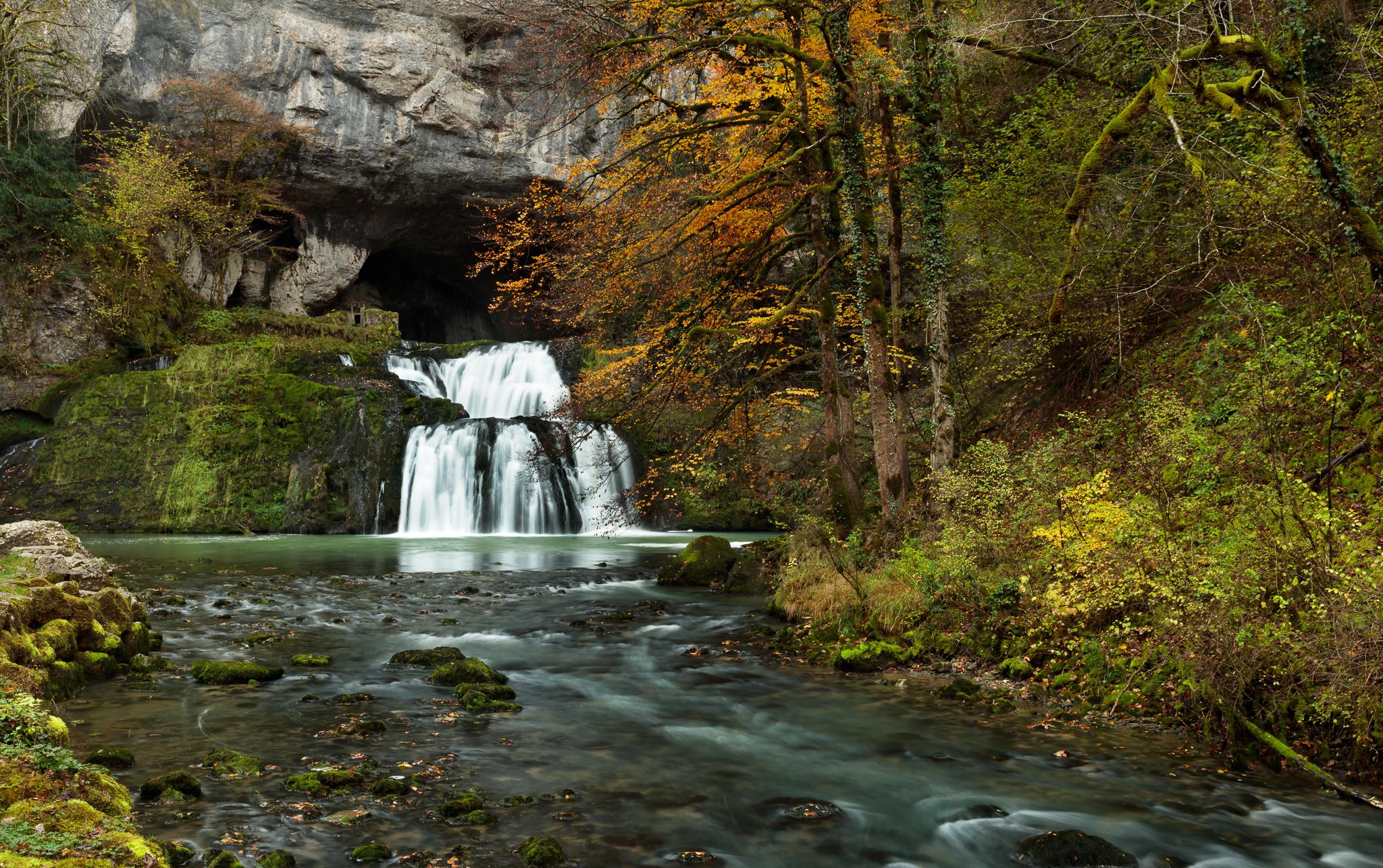 Cascade de la source du Lison, Jura, France, France