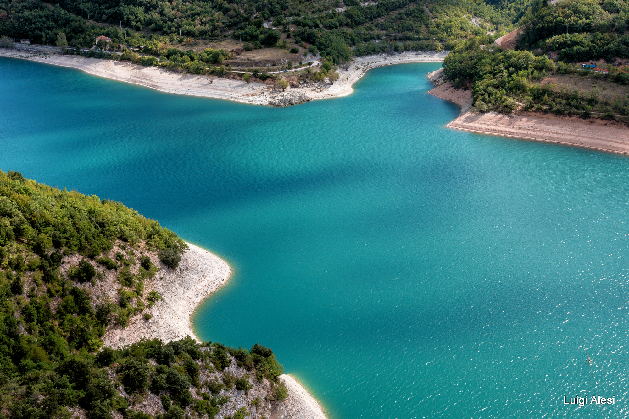 Fiastra lake, Italy