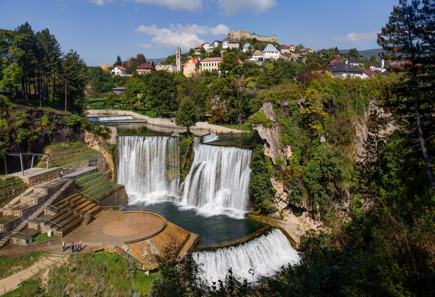 Jajce Waterfall., Bosnia and Herzegovina