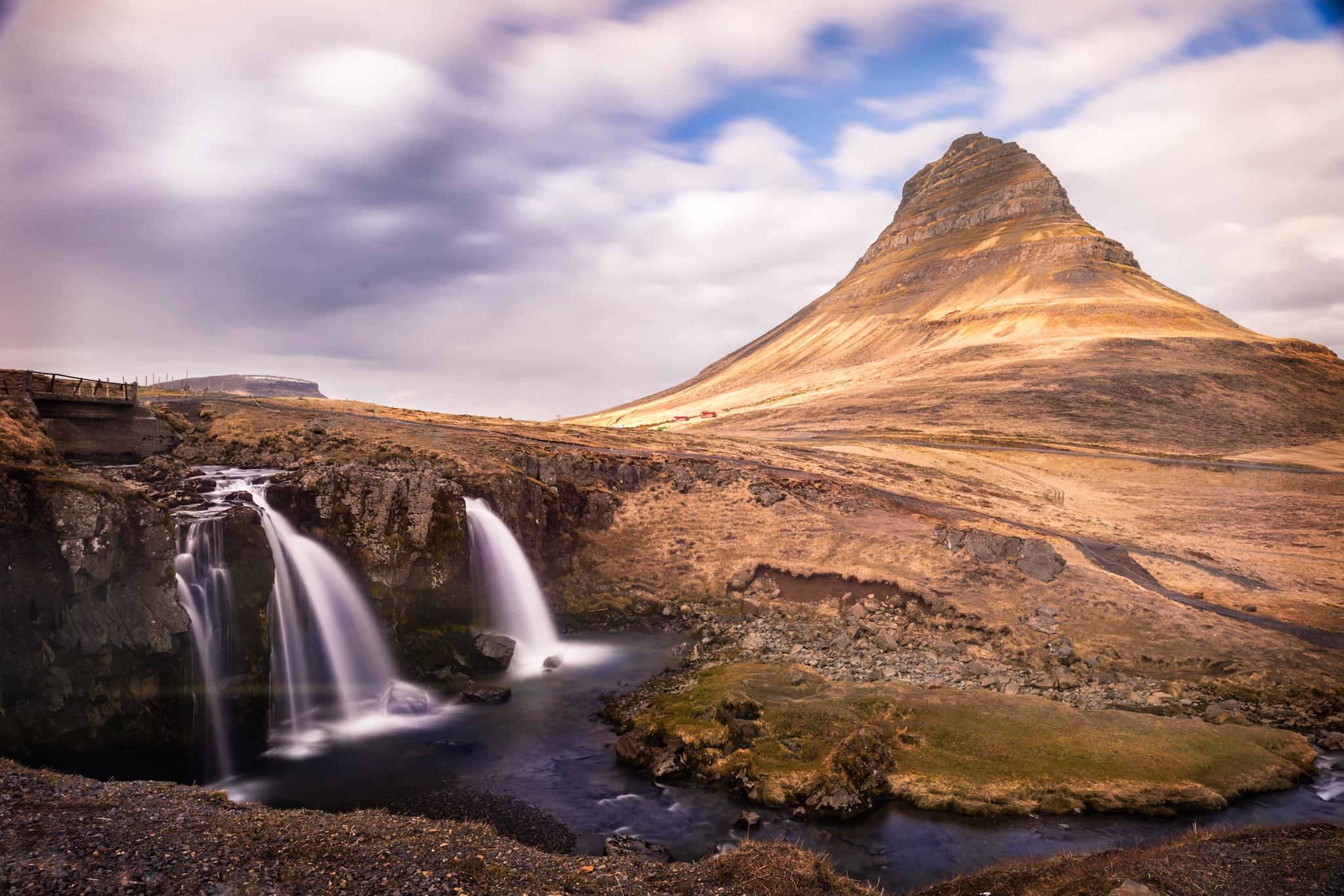 Kirjufellfoss at Kirjufell mountain, Iceland