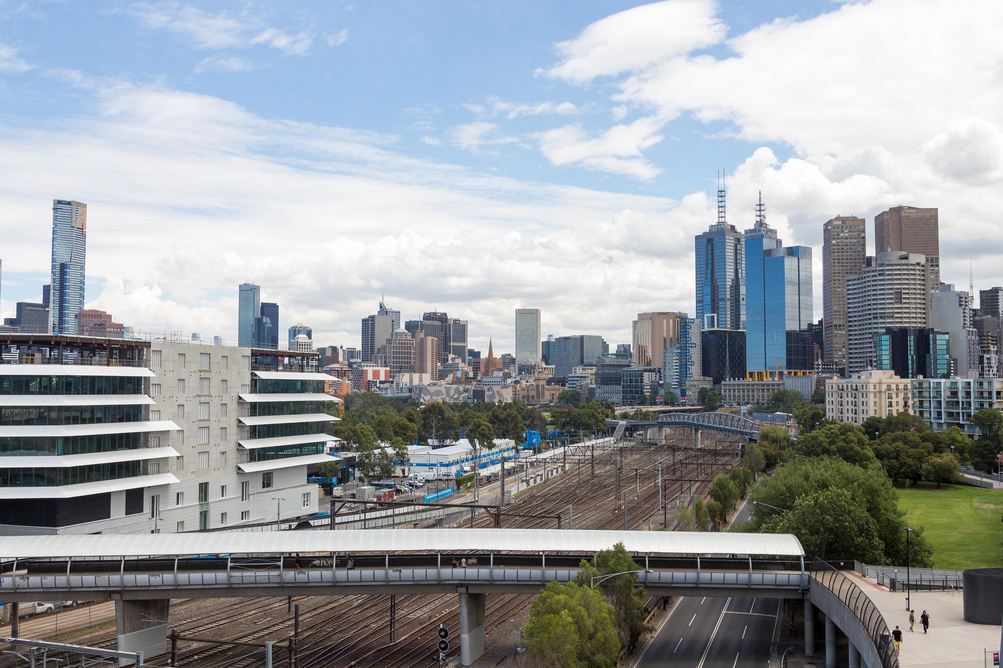 Melbourne City from the MCG, Australia
