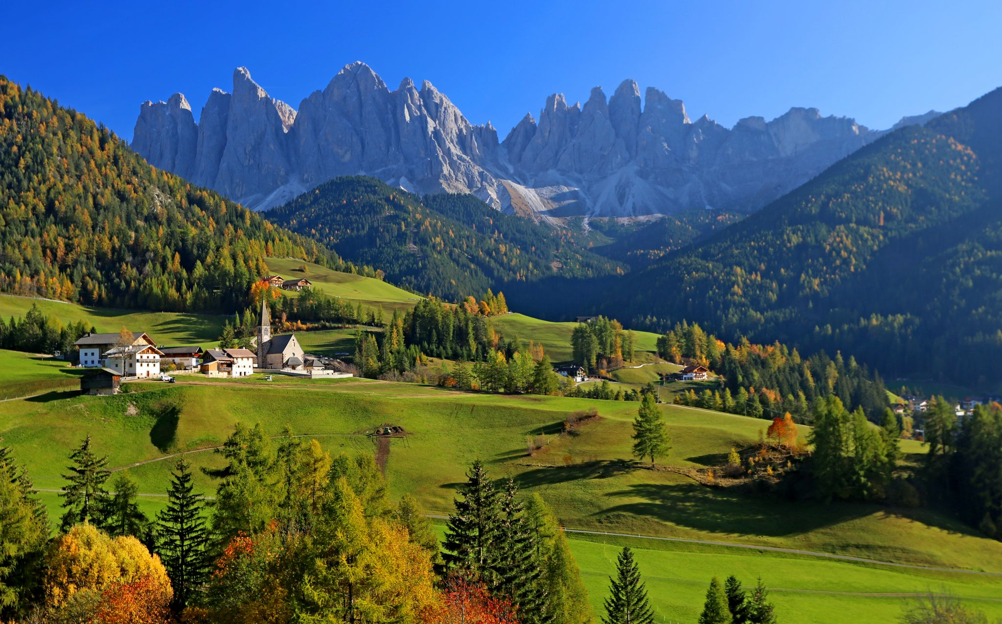 panorama view point for Val di Funes, Italy