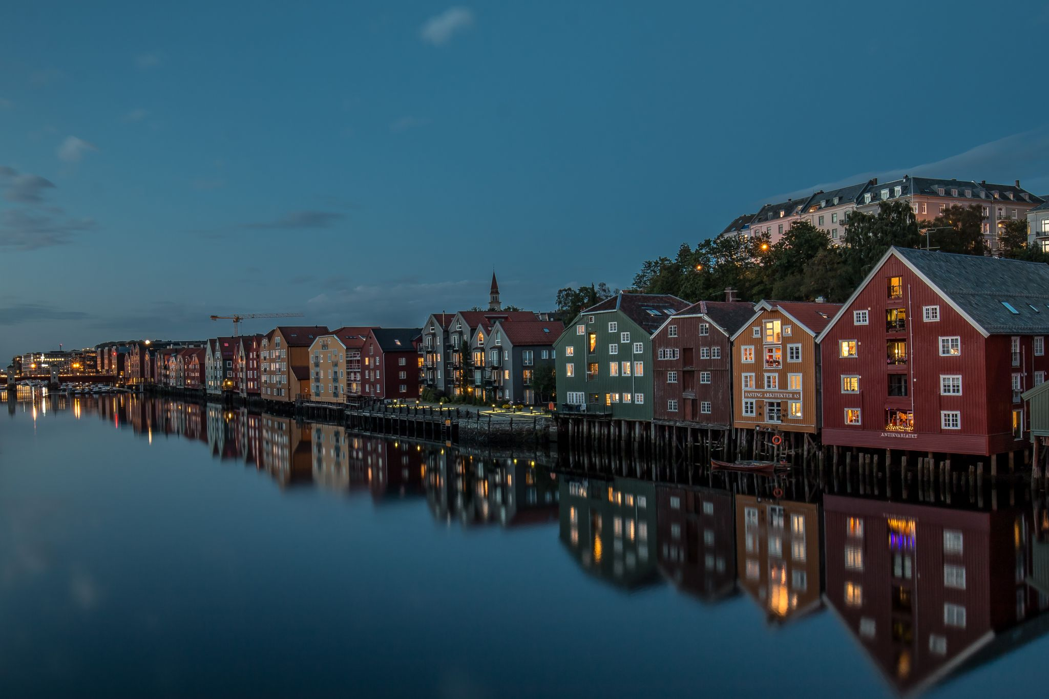 Reflections of Trondheim, Norway