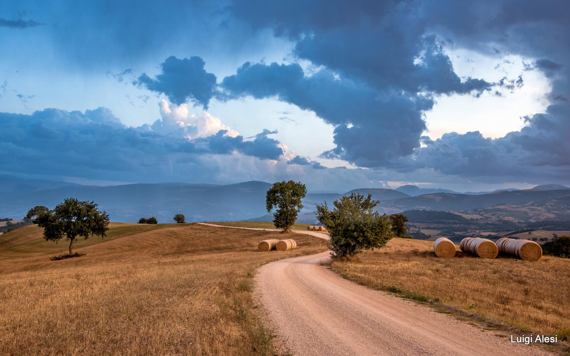 San Severino Marche countryside, Italy