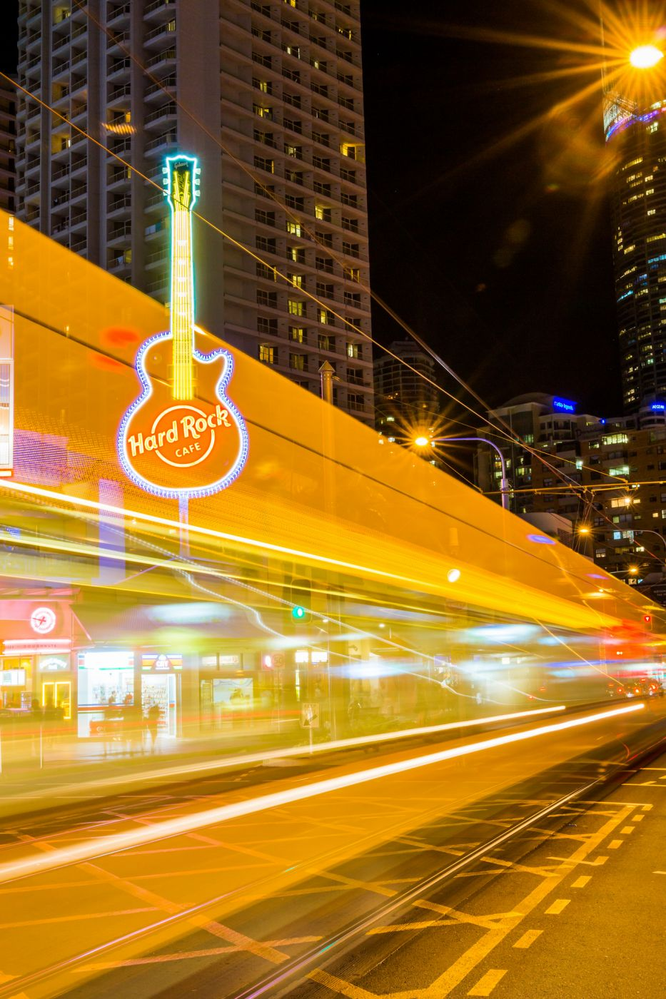 Surfer's Paradise Tram and Hard Rock Cafe, Australia