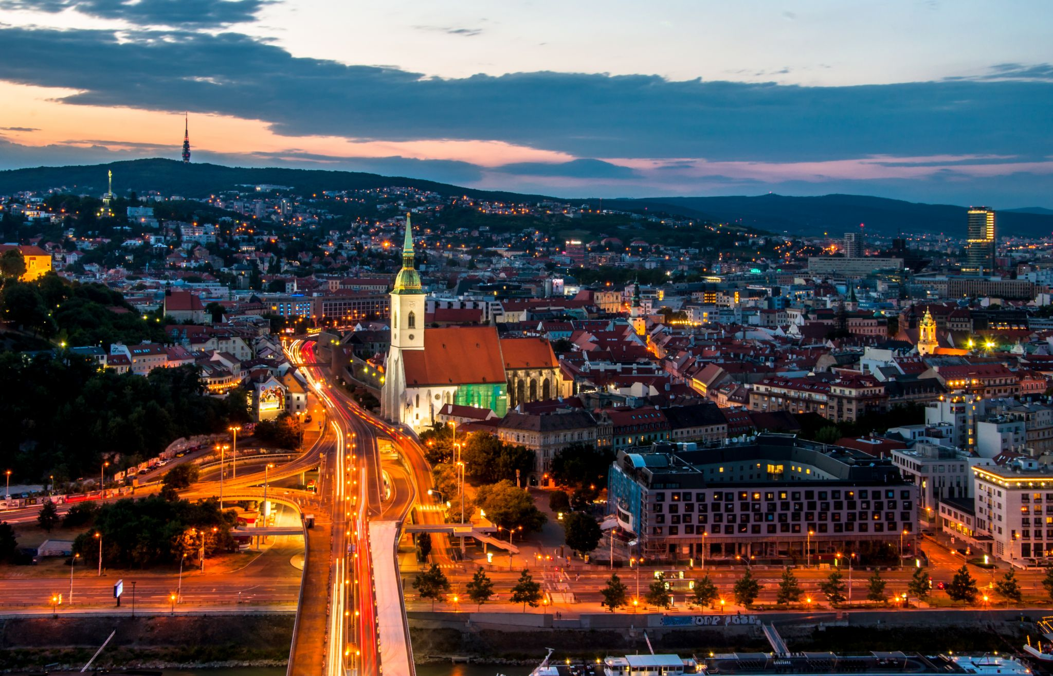 UFO Tower in Bratislava, Slovakia (Slovak Republic)