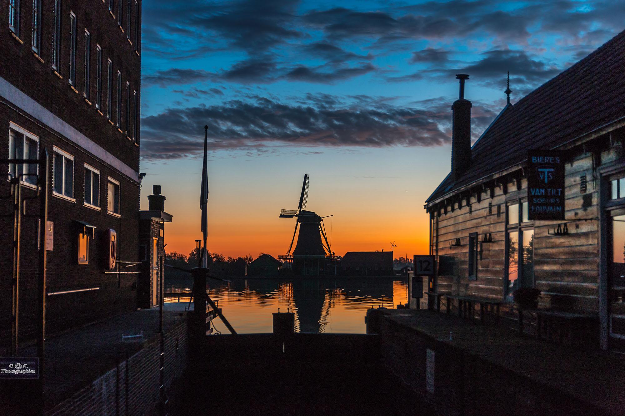 Windmills of Zaanse Schans, Netherlands