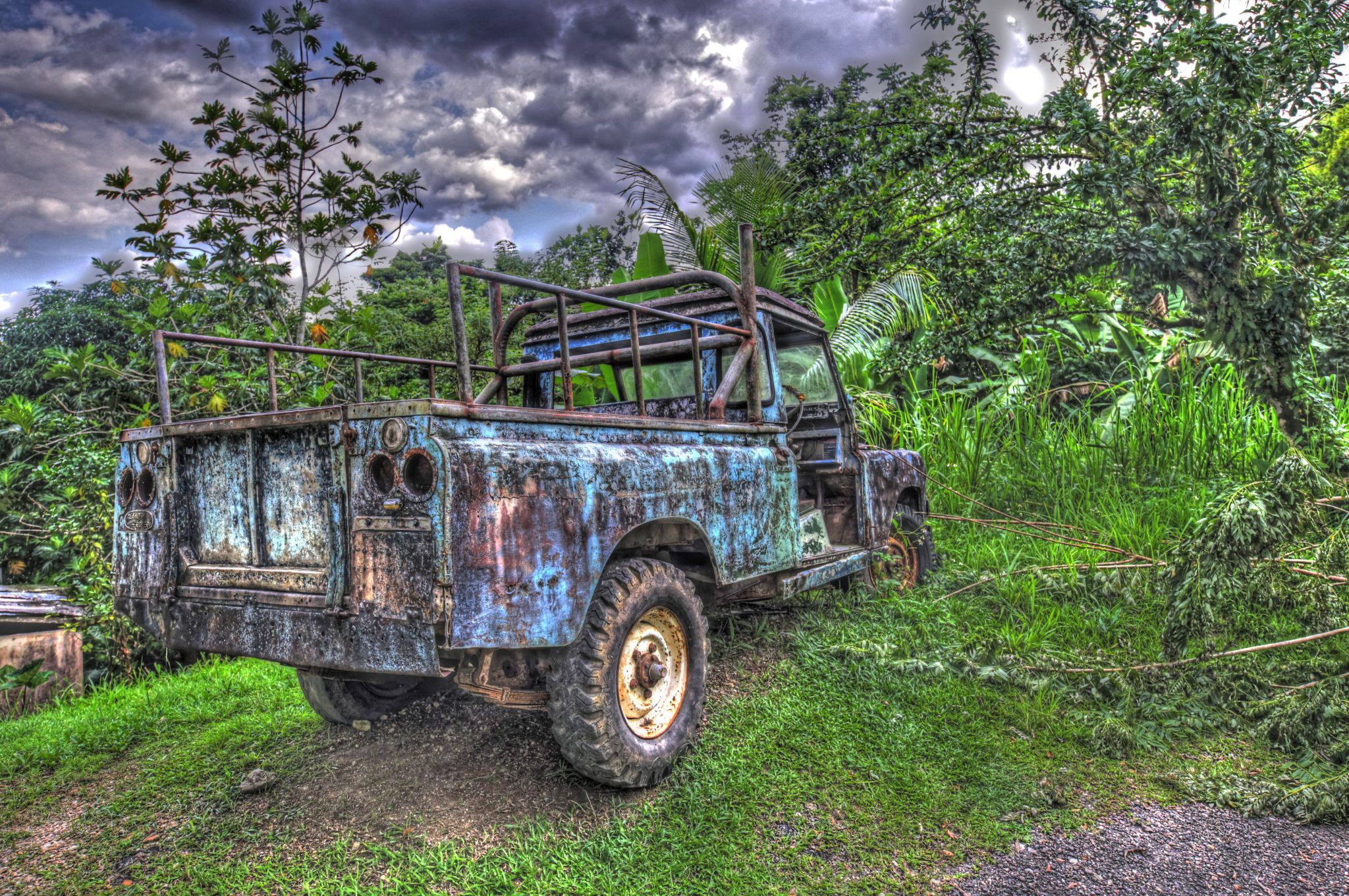Abandoned Rover in Catatupa, Jamaica, Jamaica