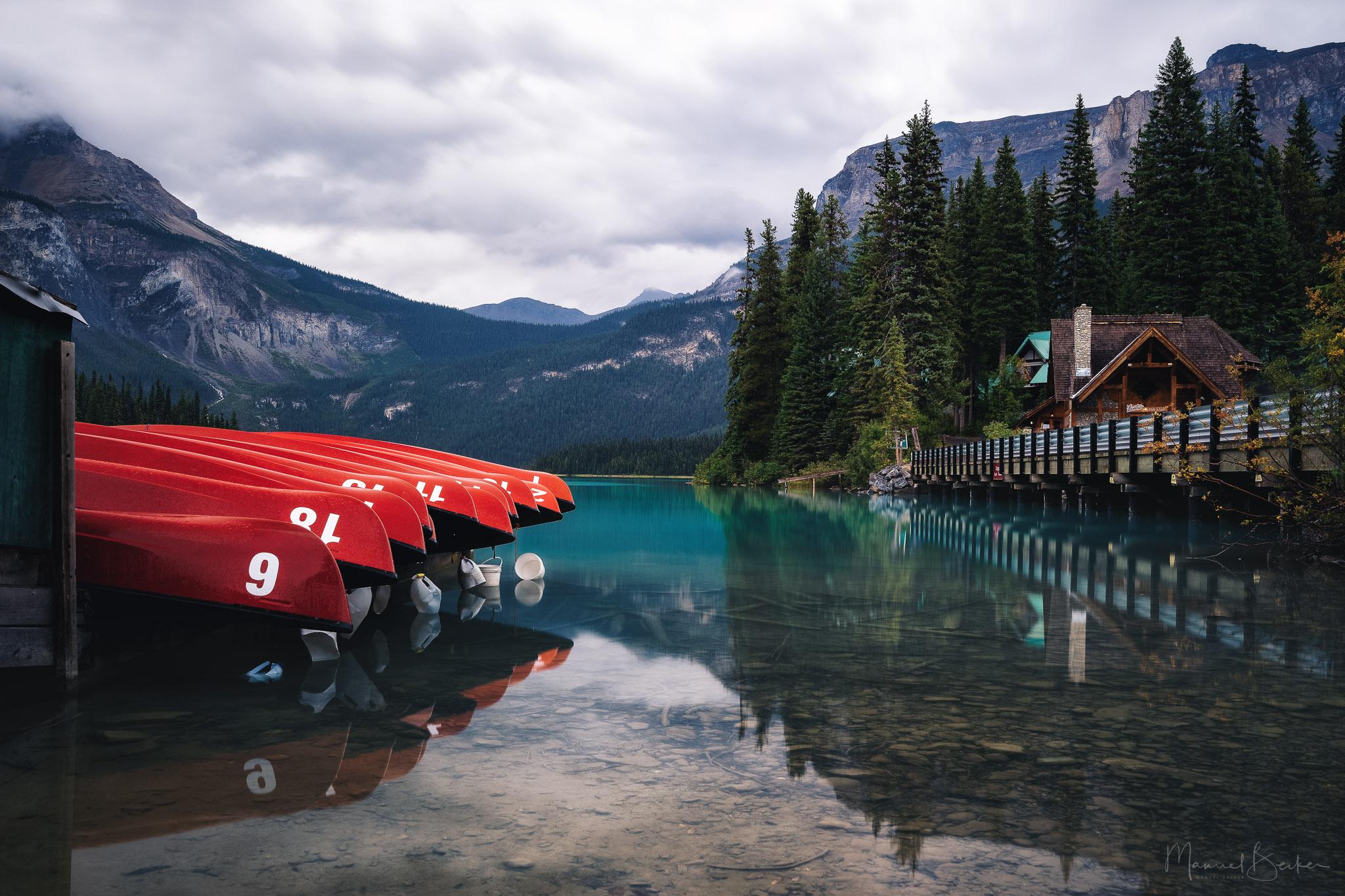 Canoe View at Emerald Lake, Canada