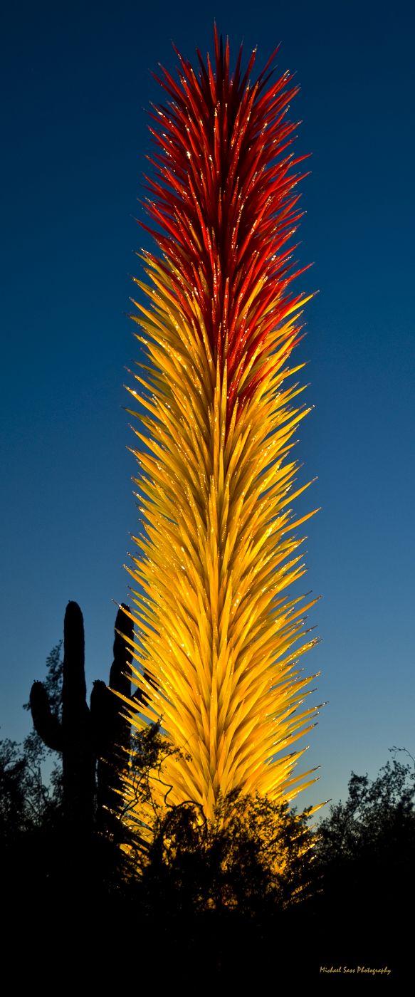 Desert  Botanical Garden - Chihuly in the Garden, USA