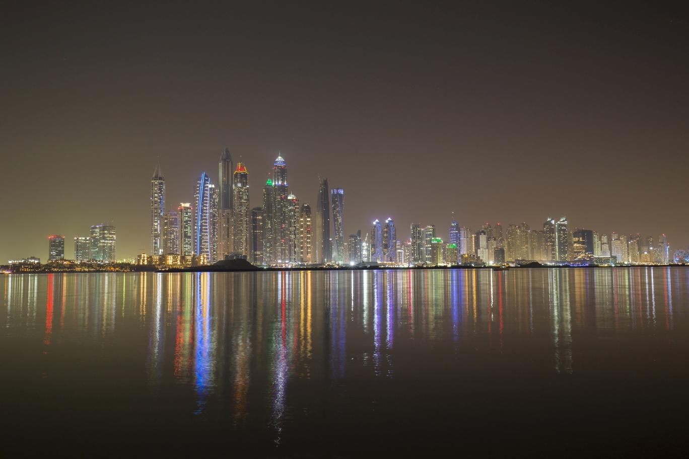 Dubai Marina view from Palm Jumeirah, United Arab Emirates