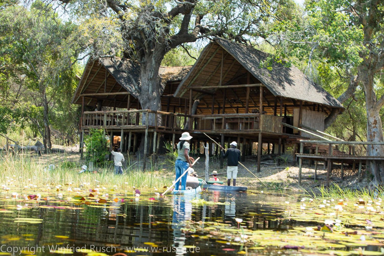 Fahrt mit den Mokoros (Einbäume), Botswana