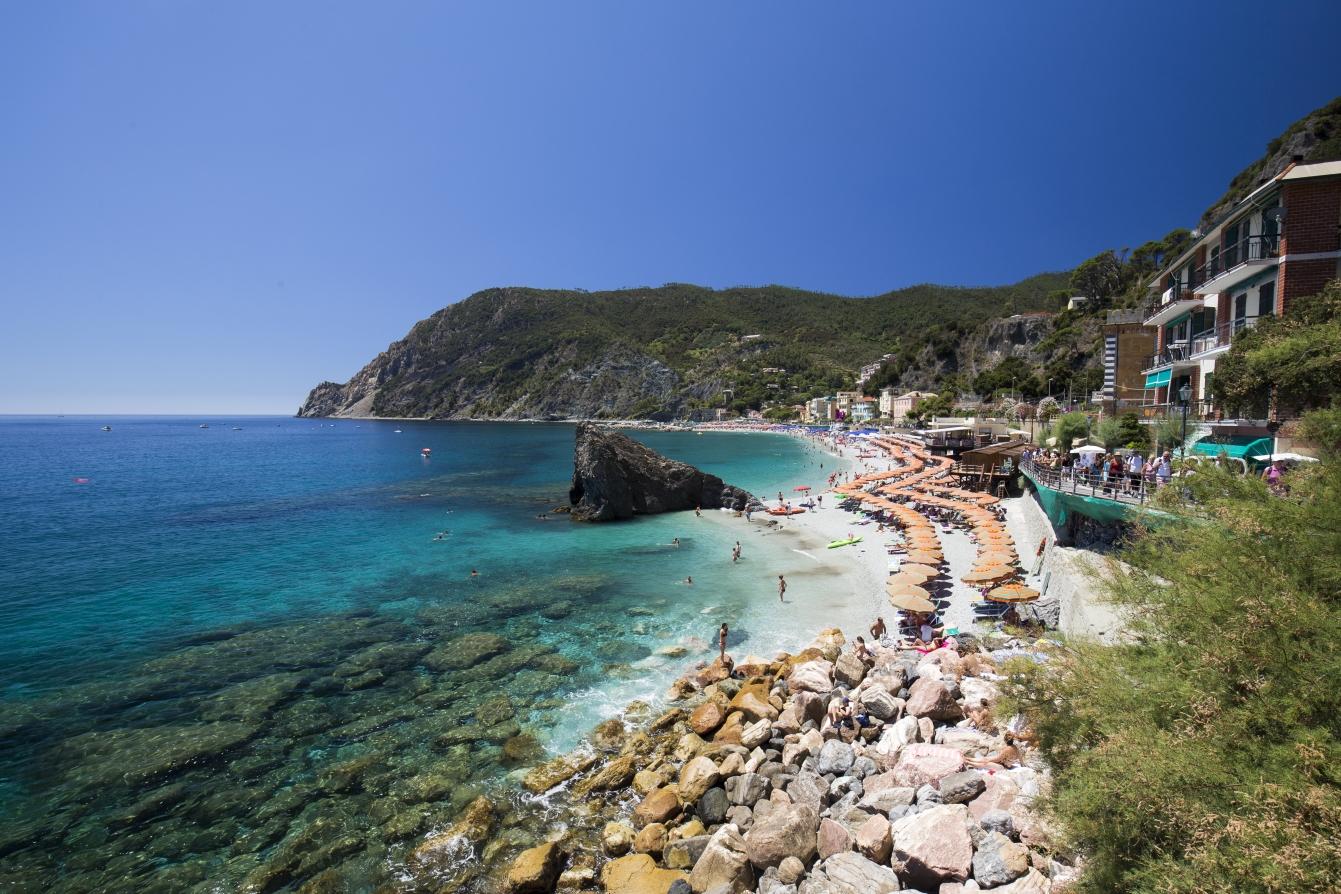 Fegina Beach in Monterosso al Mare, Italy