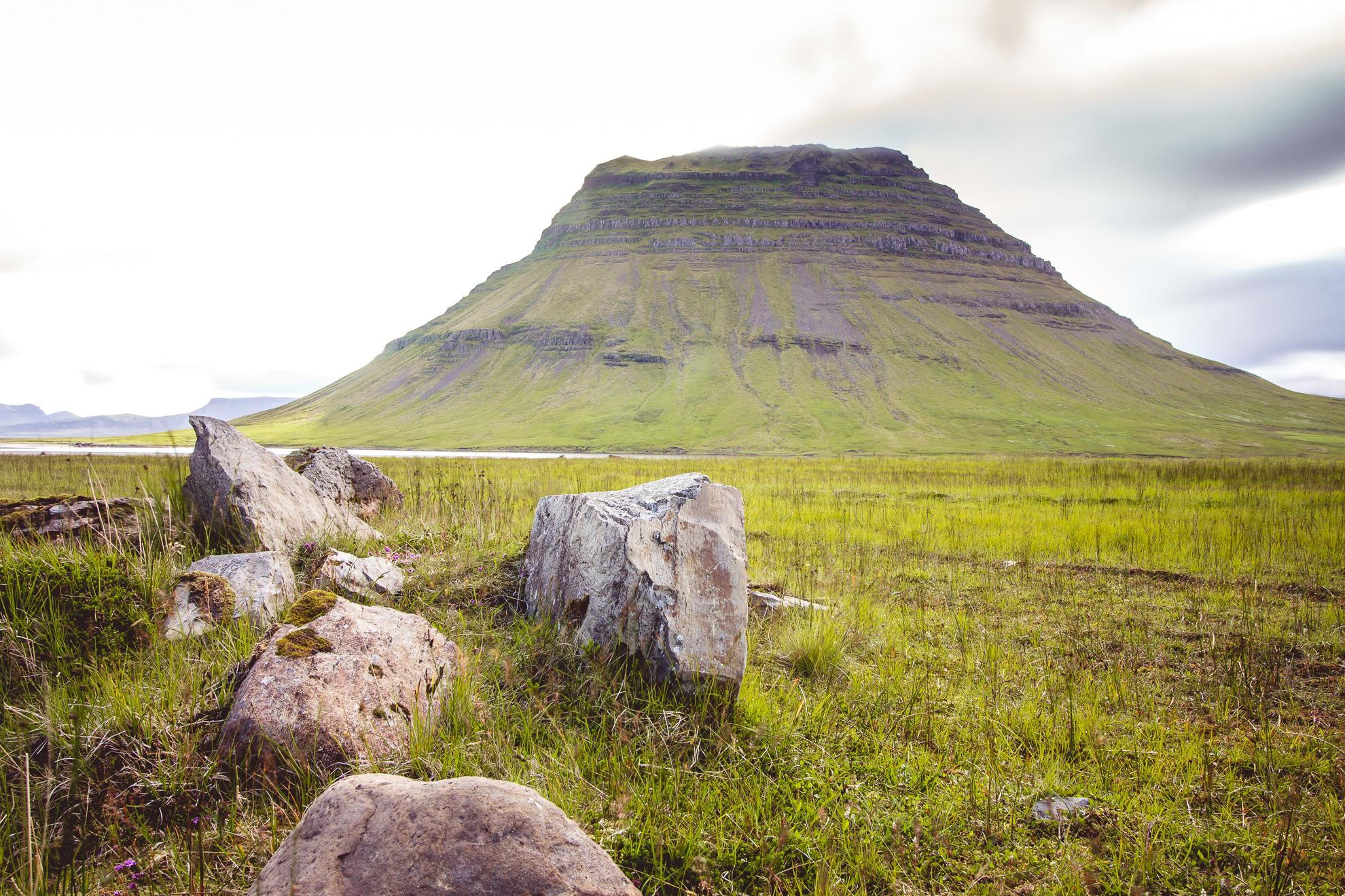 Kirkjufell from the left, Iceland