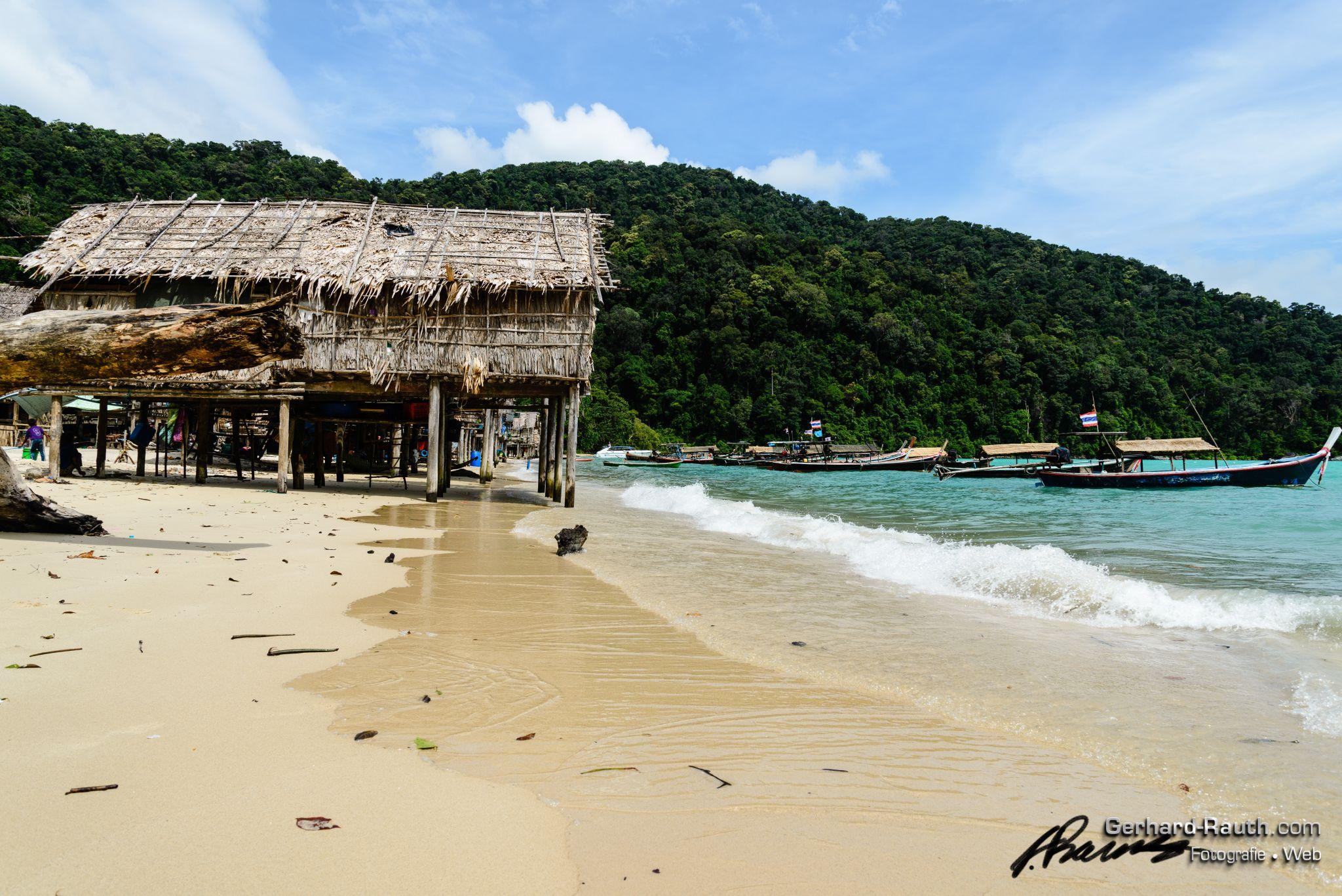 Moken village, Surin Islands, Thailand