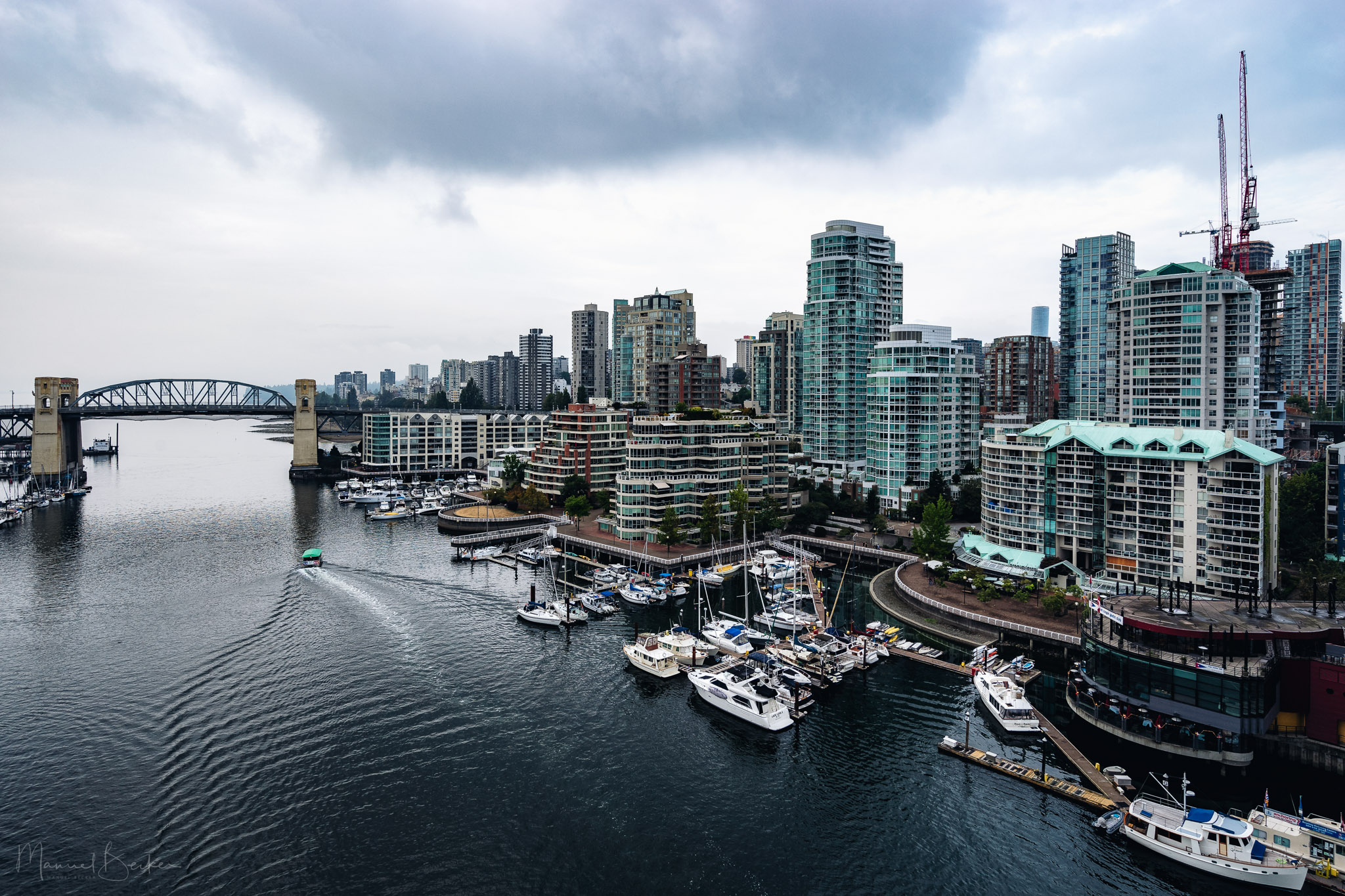 Northern view from Granville Bridge, Vancouver, Canada