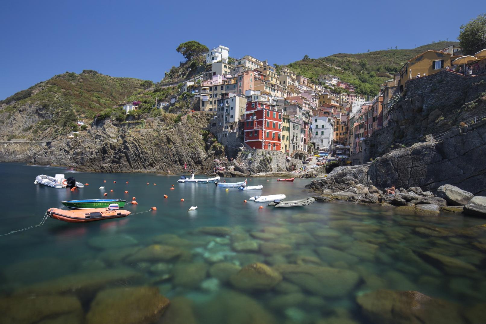 Riomaggiore, view from sea mole, Italy