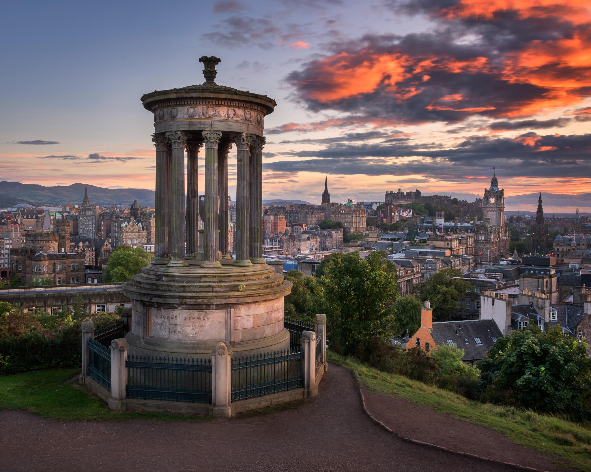 View of Edinburgh from Calton Hill, Scotland, UK, United Kingdom
