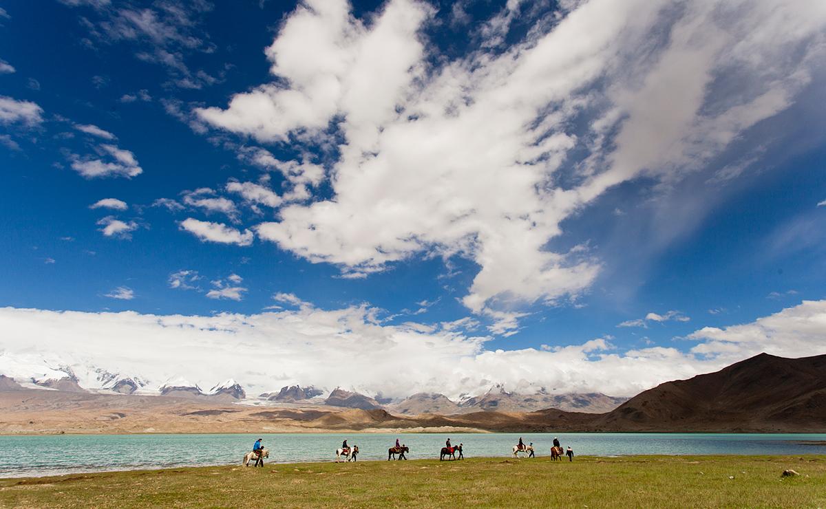 On the shores of Lake Karakul, China